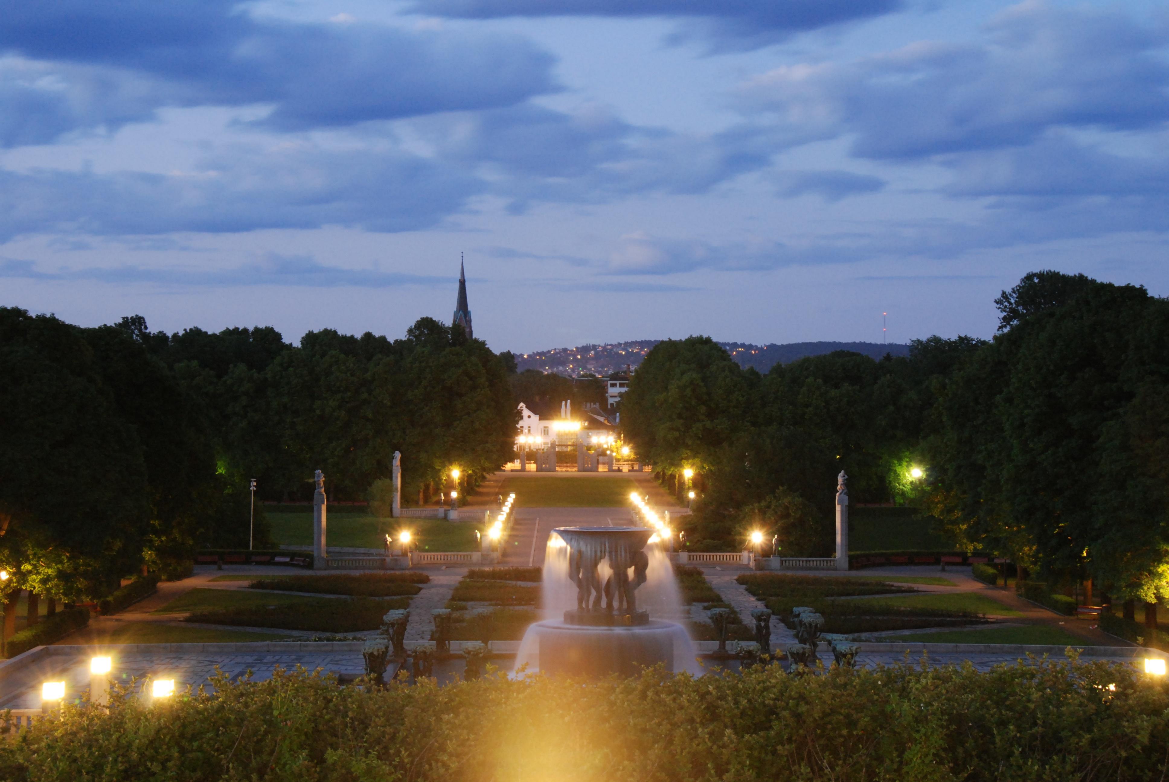 Kostenlose Foto Nacht Sonnenlicht Abend Beleuchtung Brunnen