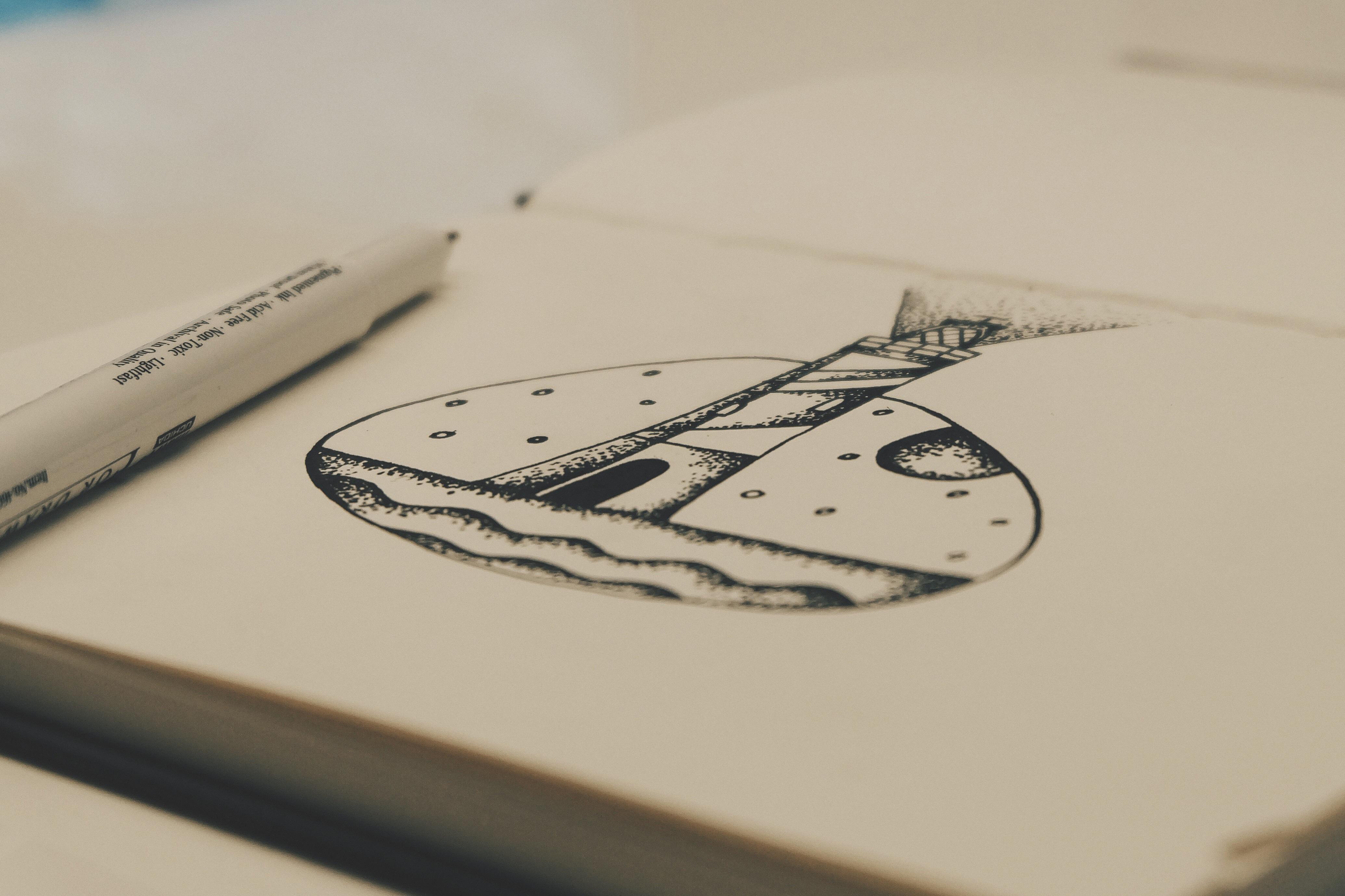 Préférence Images Gratuites : carnet, l'écriture, crayon, phare, blanc  XJ27