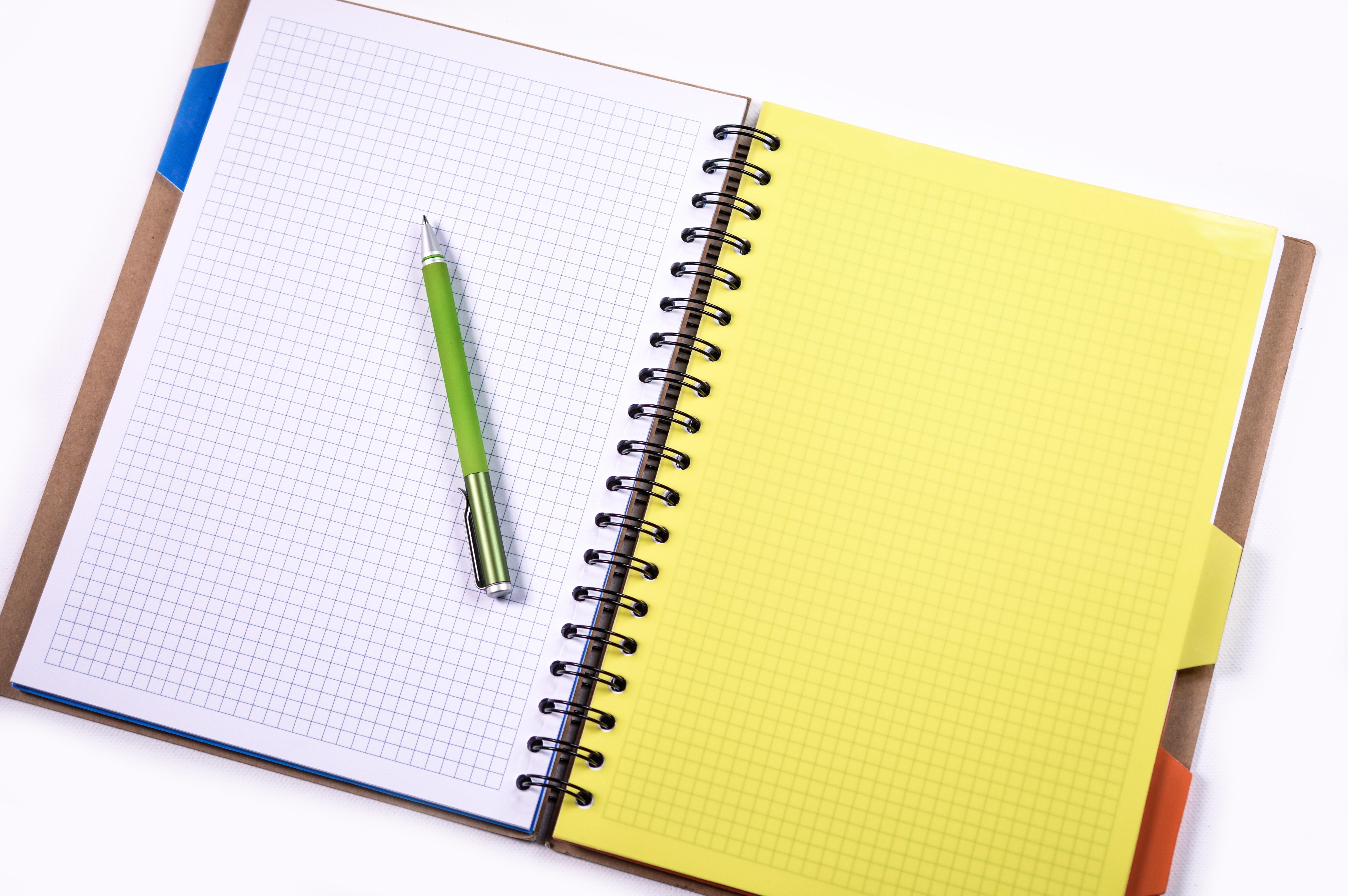 Kostenlose foto : Schreiben, Arbeit, Bleistift, Weiß, Spiral-, Büro ...