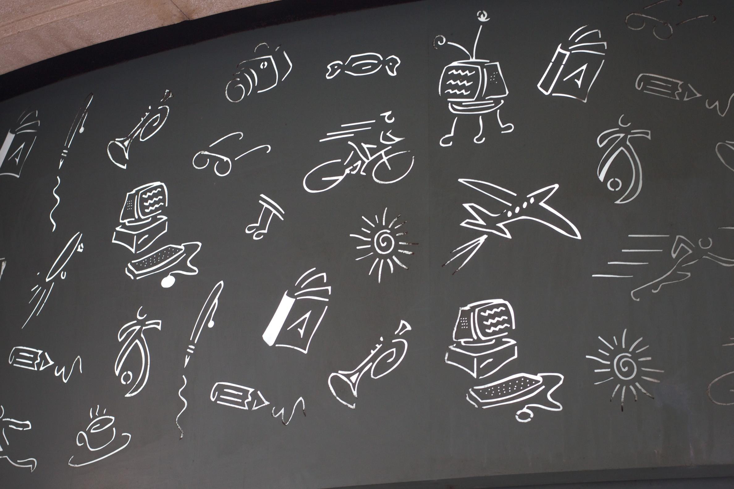 number-line-blackboard-circle-font-chalk