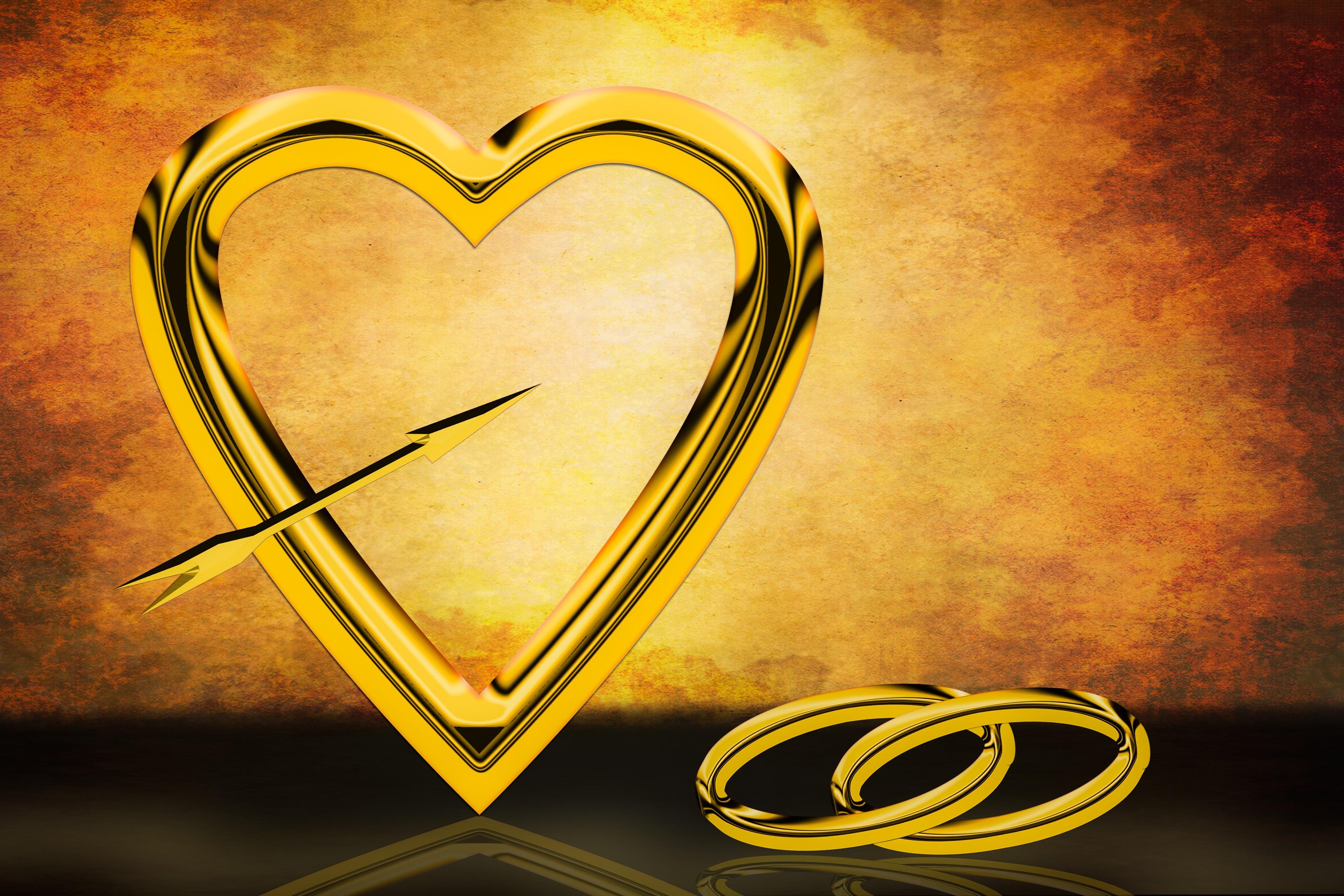 Tekst Ringen Huwelijk : Gratis afbeeldingen aantal hart gouden symbool