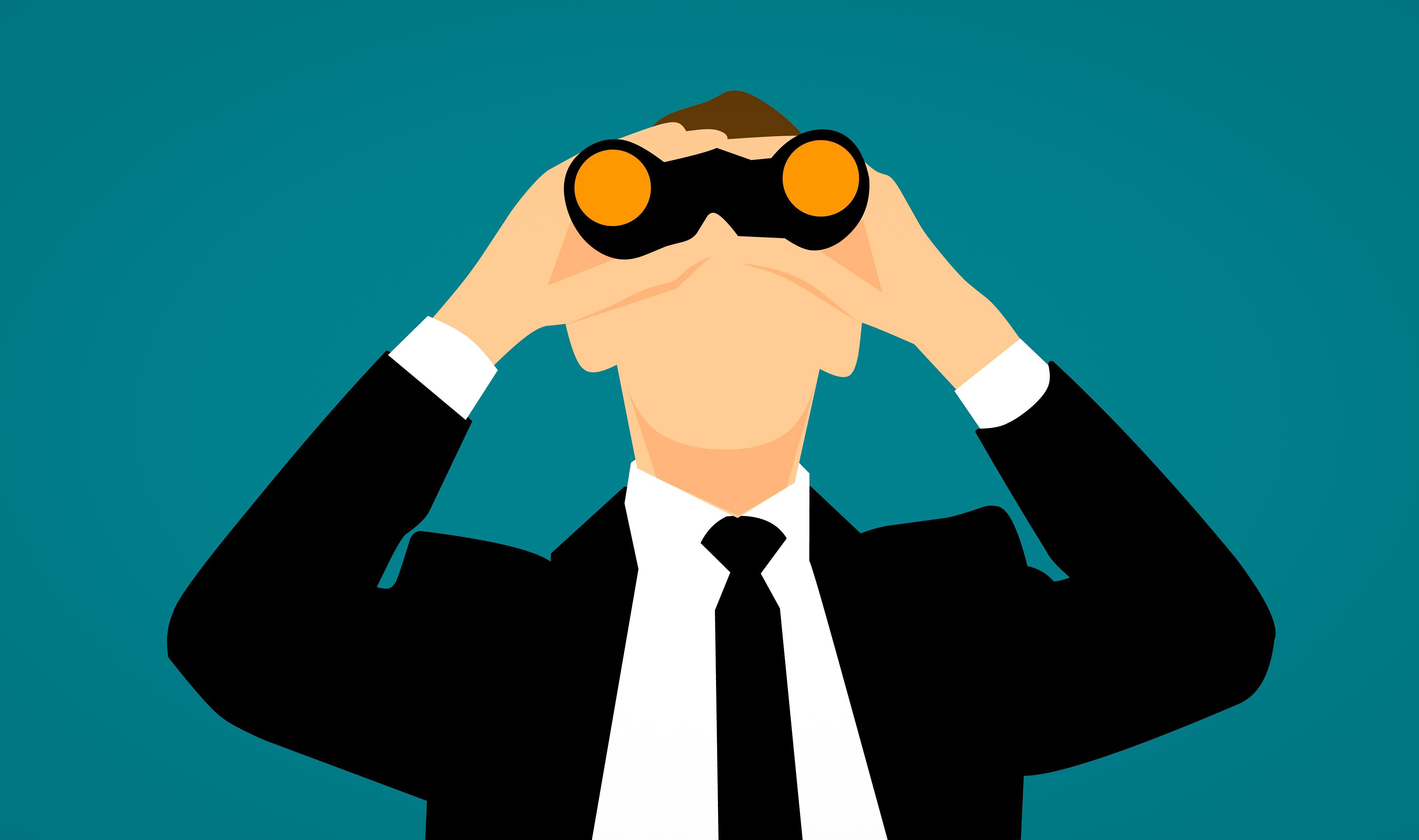 Gambar Mengamati Pemantauan Mengintai Pencarian Pekerjaan
