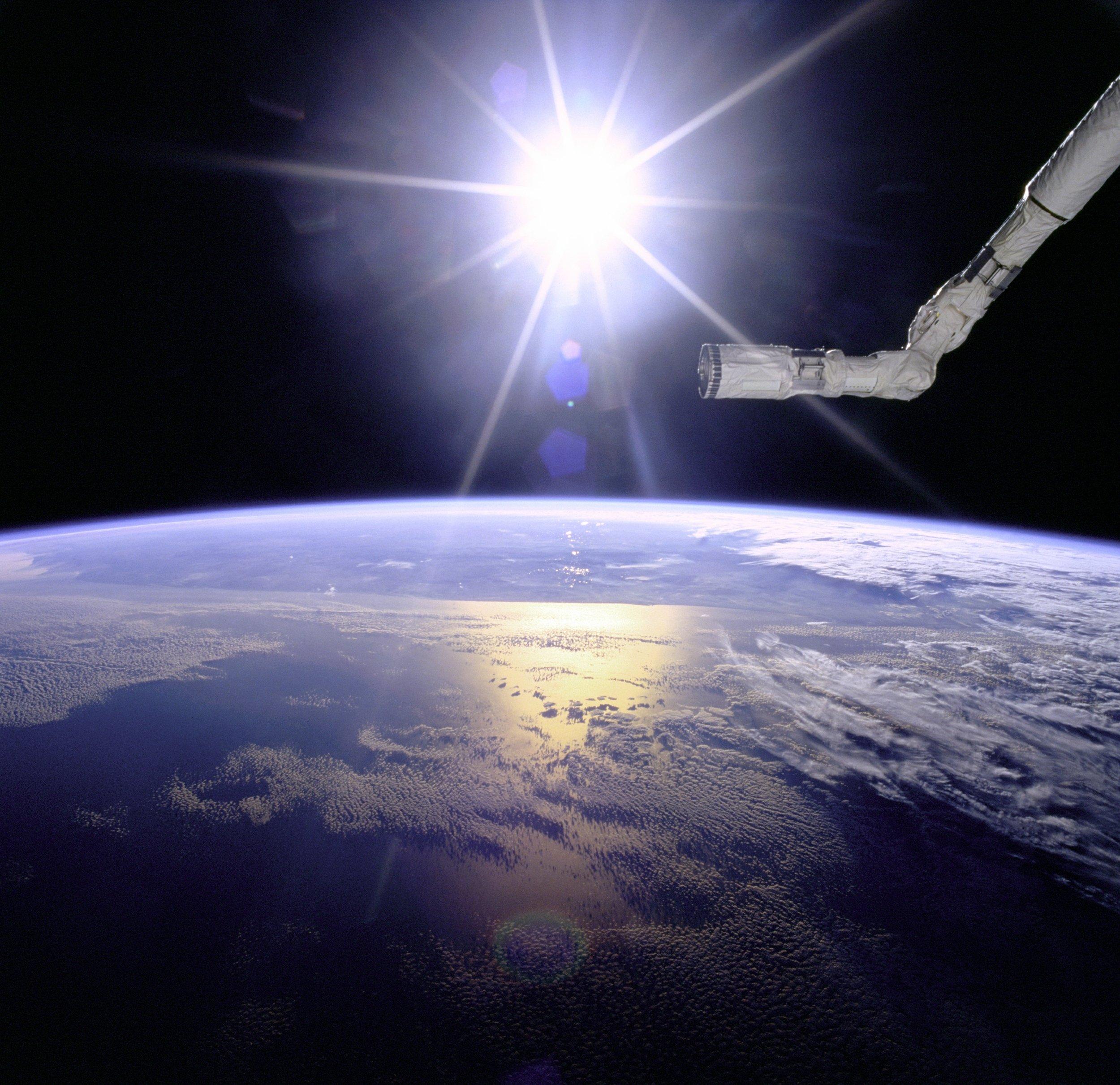 Free Images : ocean, sun, vehicle, aviation, night sky, nasa