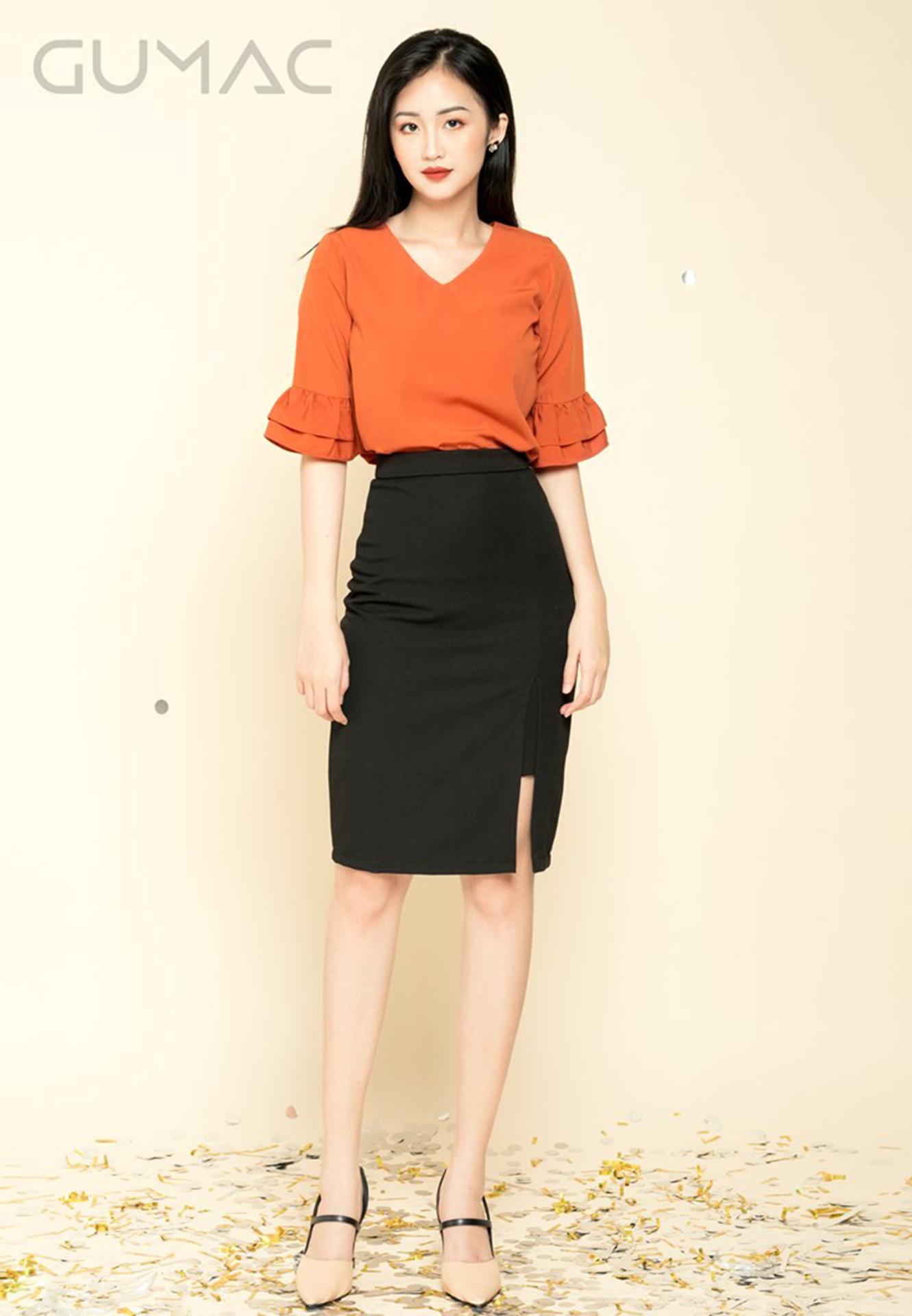 60f02cf344 Free Images : office, shirt, trousers, clothing, Pencil skirt, orange,  waist, shoulder, fashion model, neck, joint, footwear, knee, leg, sleeve,  formal wear ...
