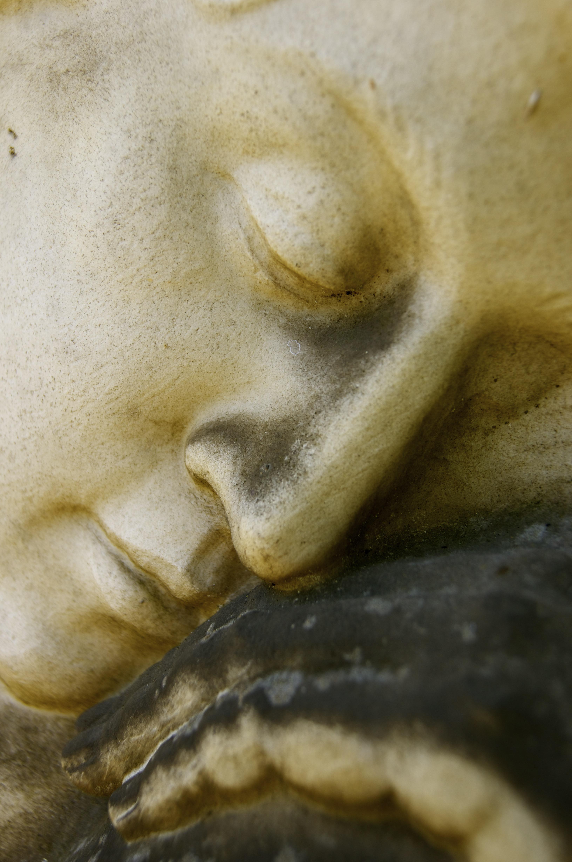 Fotoğraf Eski Taş Anıt Heykel Portre Mezarlık Boyama