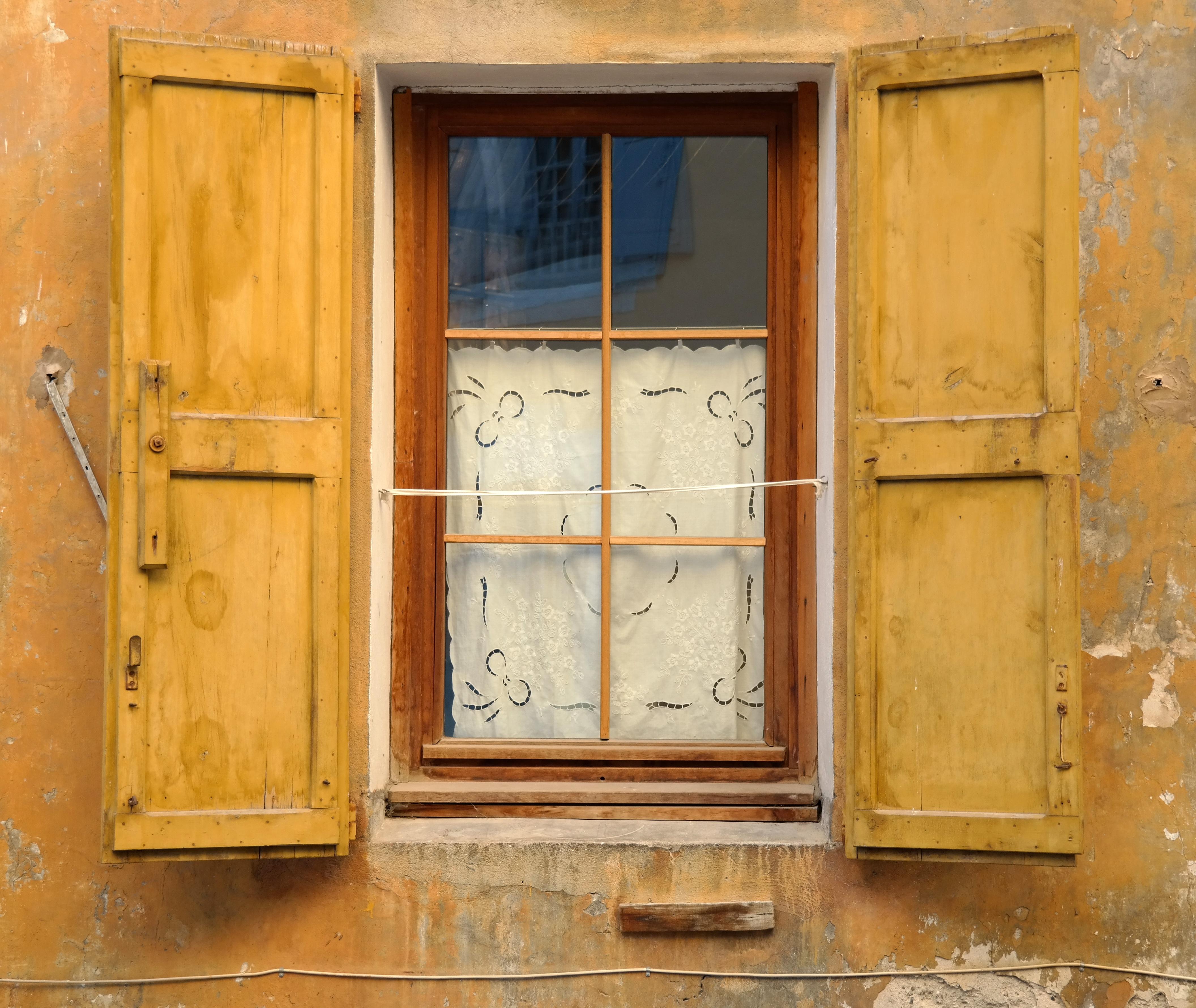 รูปภาพ เปิด เนื้อไม้ บ้าน เก่า ผนัง ฝรั่งเศส ม่าน