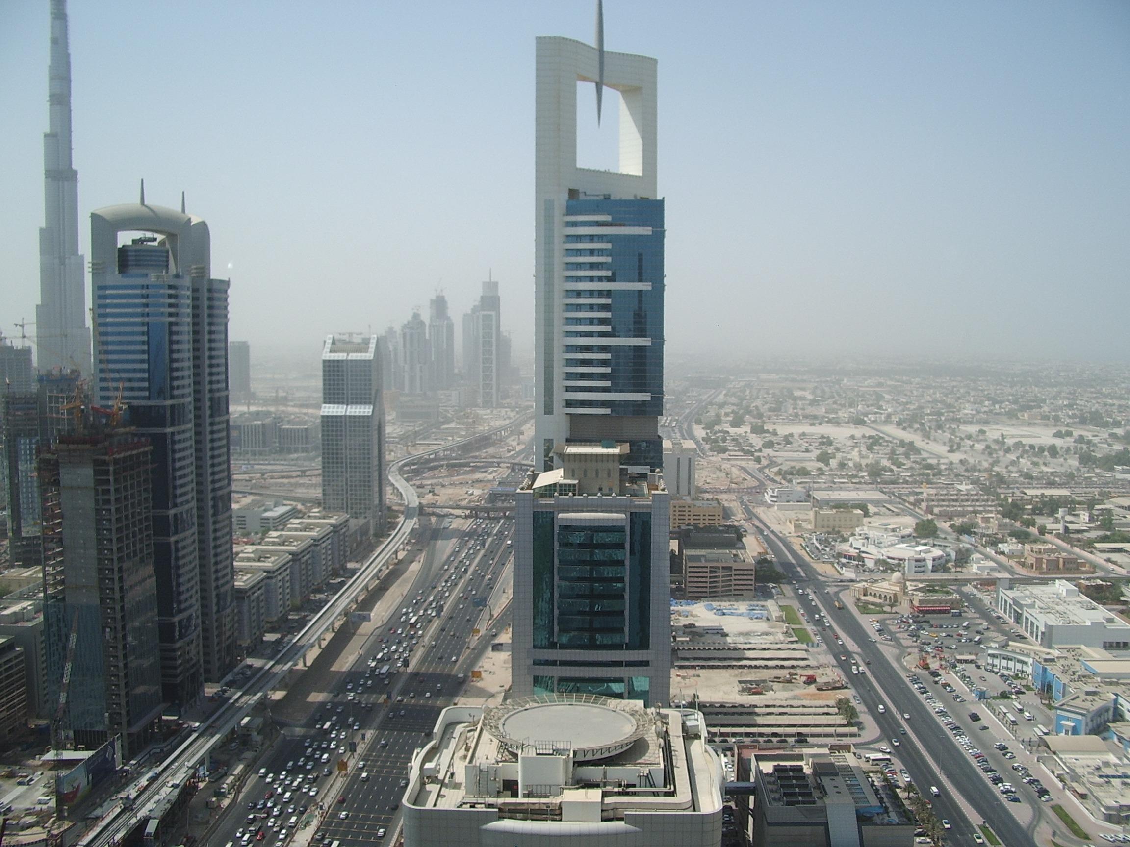 fotos gratis al aire libre la carretera horizonte calle edificio rascacielos paisaje urbano centro de la ciudad torre dubai