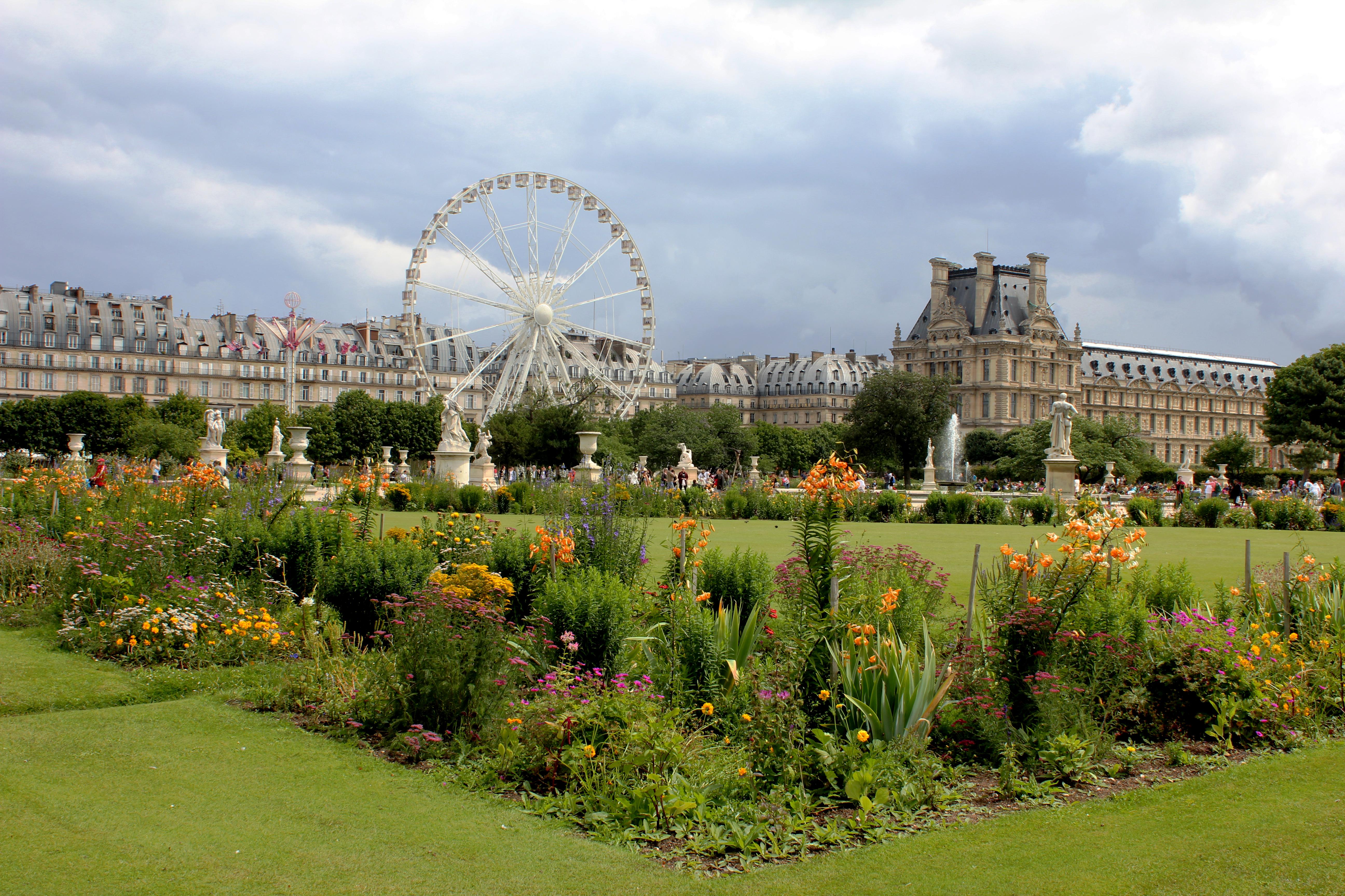Outdoor Flower City Paris Recreation France Europe Green Amusement Park Louvre Color Landmark Botany Garden