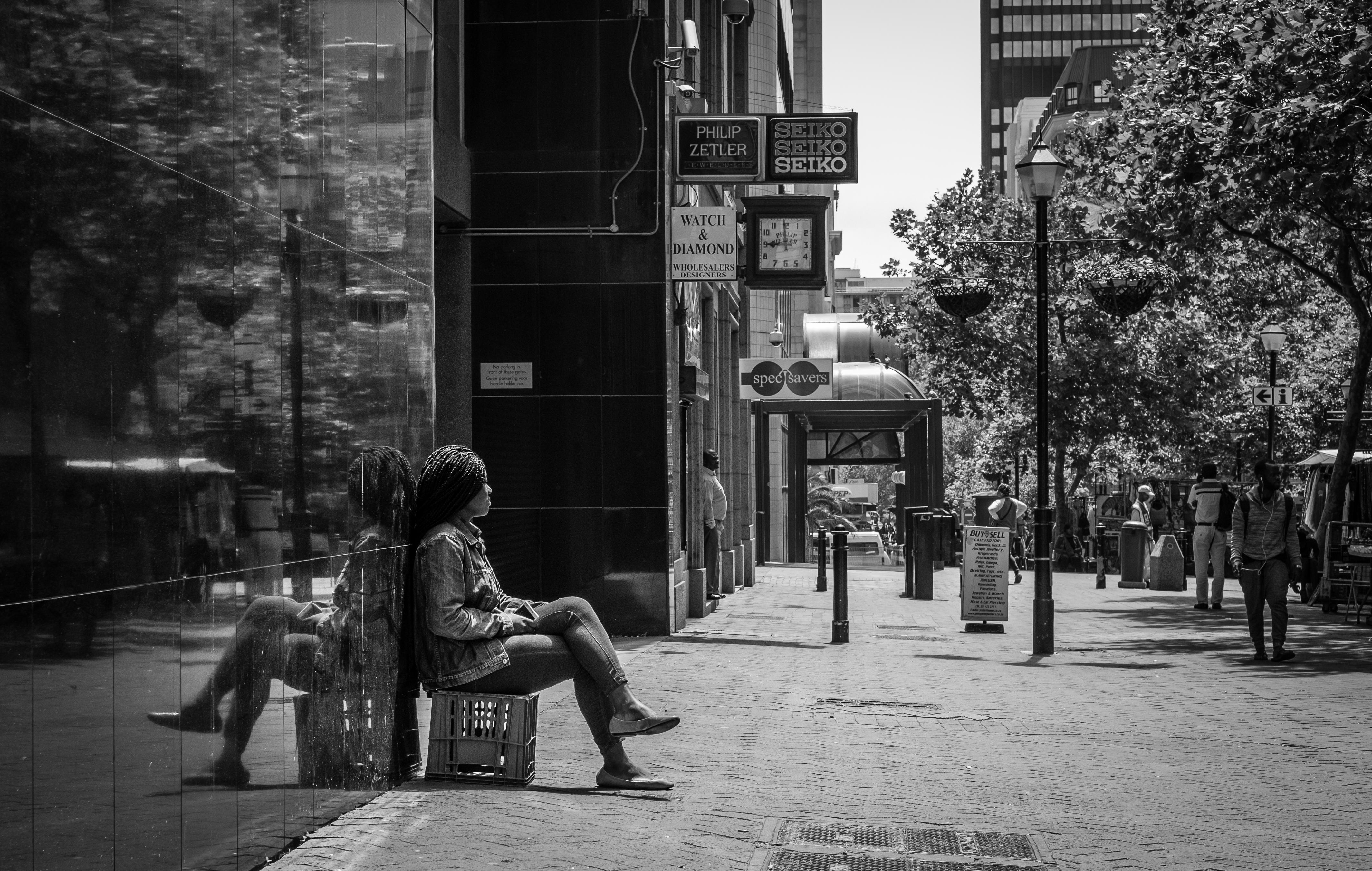 Black and white outdoor girl portrait - 54ka [photo blog]