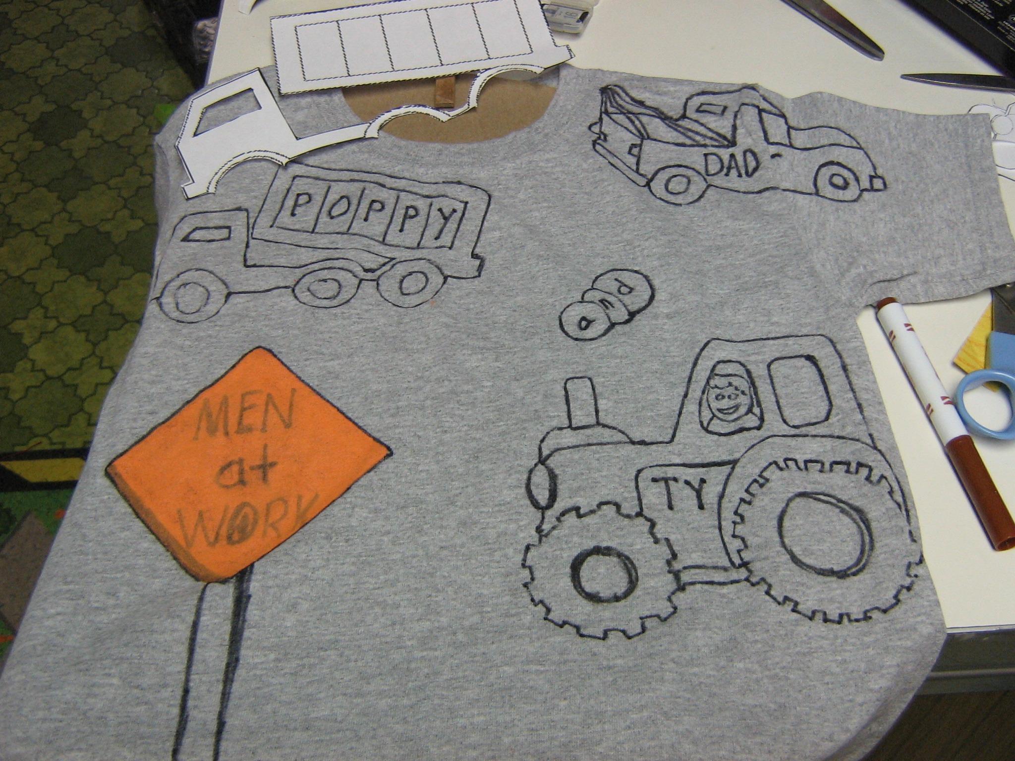 Gambar Cat Tshirt Kemeja Seni Anak Anak Gambar Desain