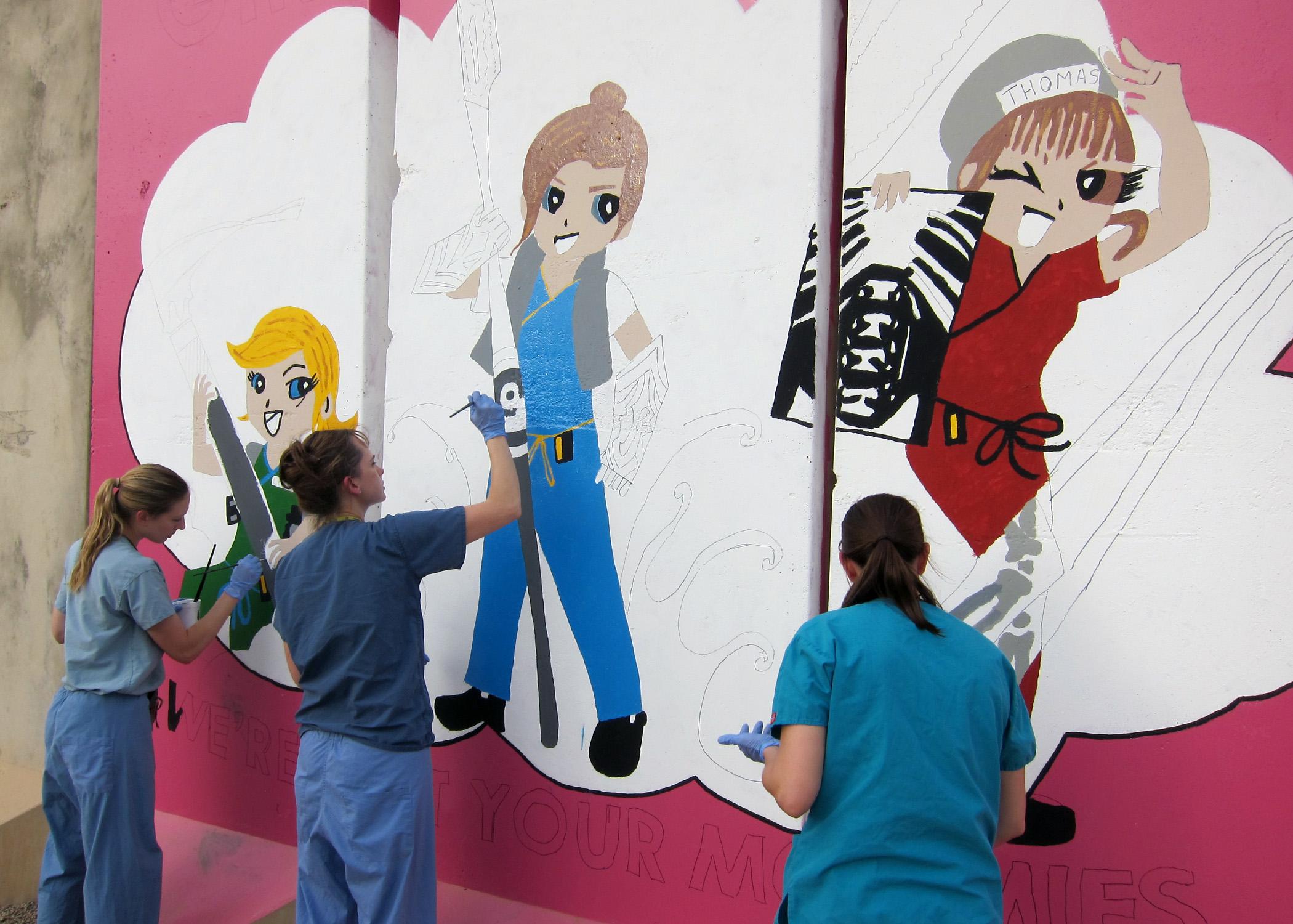 Gambar Cat Berwarna Merah Muda Seni Ilustrasi Wanita Lukisan