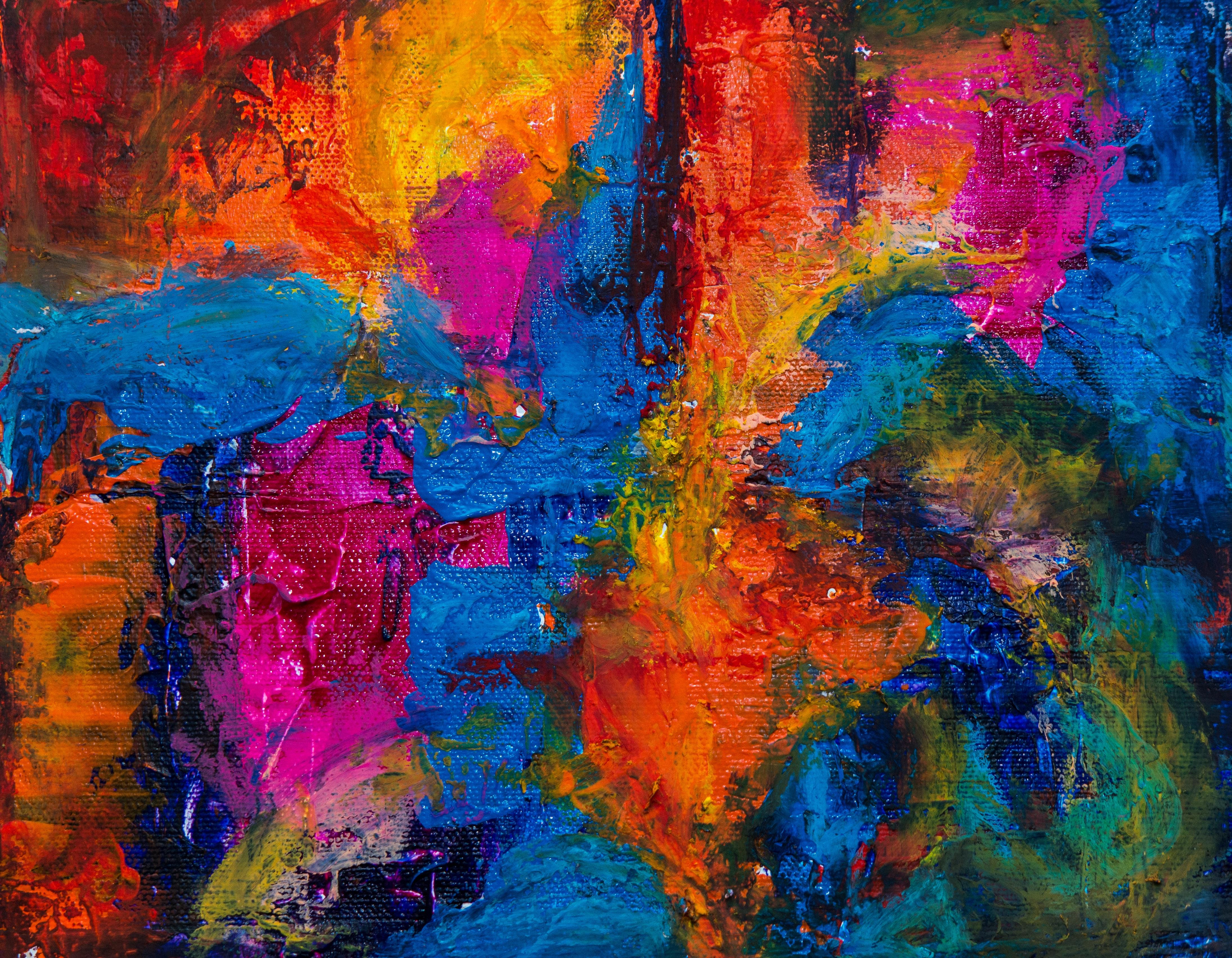 Uitgelezene Gratis Afbeeldingen : schilderij, moderne kunst, acrylverf GM-95
