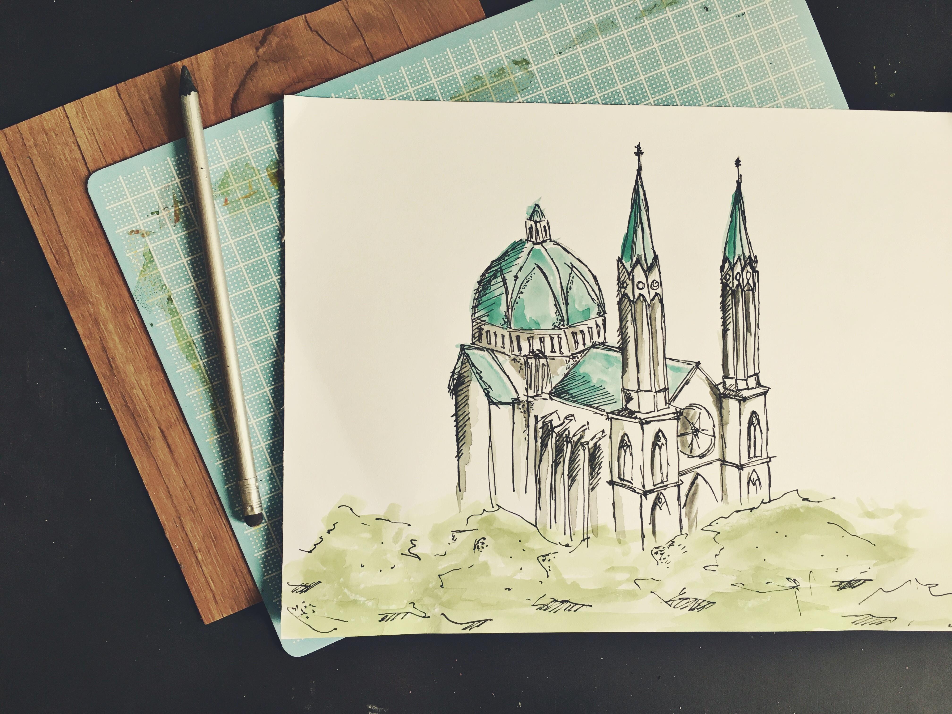 132 Gambar Sketsa Ilustrasi Masjid Gambarilus