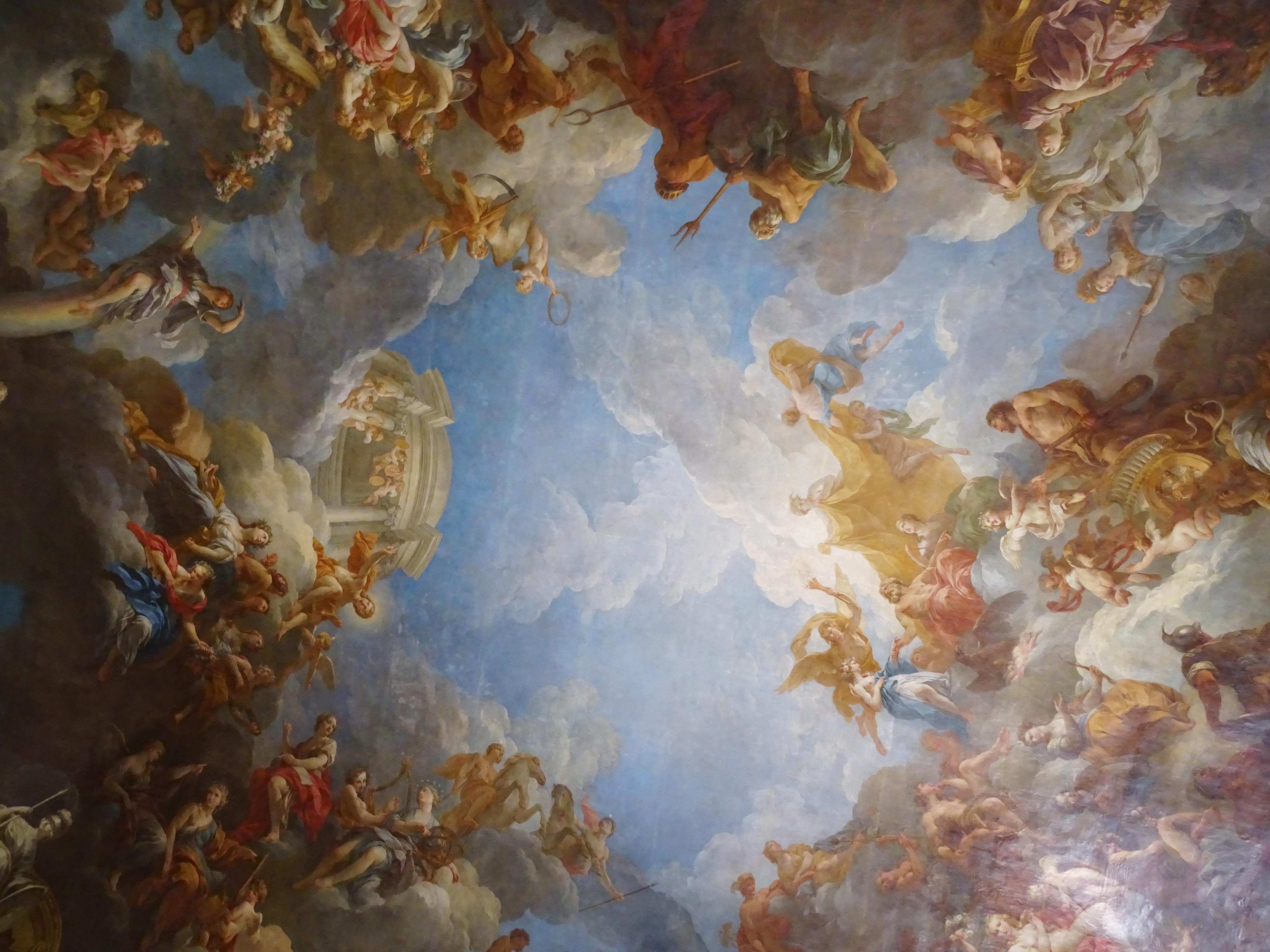 Gambar Istana Paris Perancis Plafon Museum Bersejarah