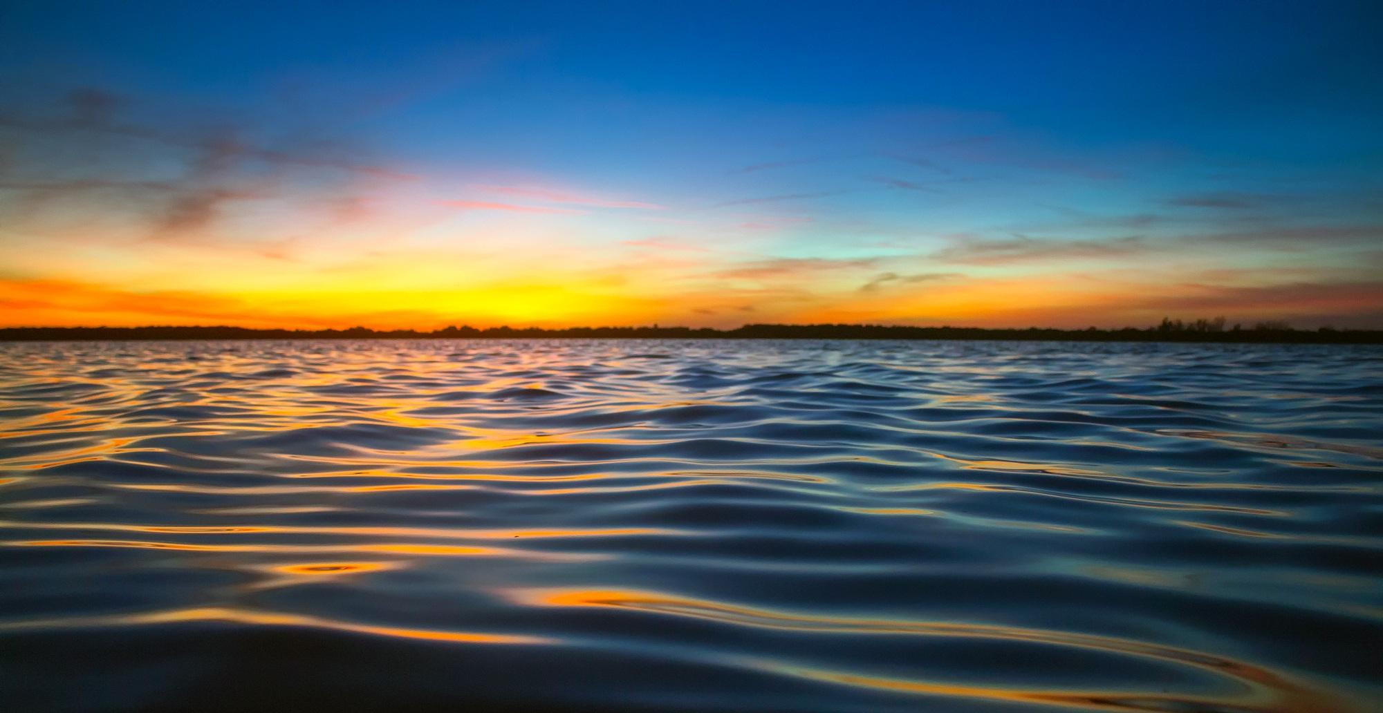фото закат рассвет вода данном