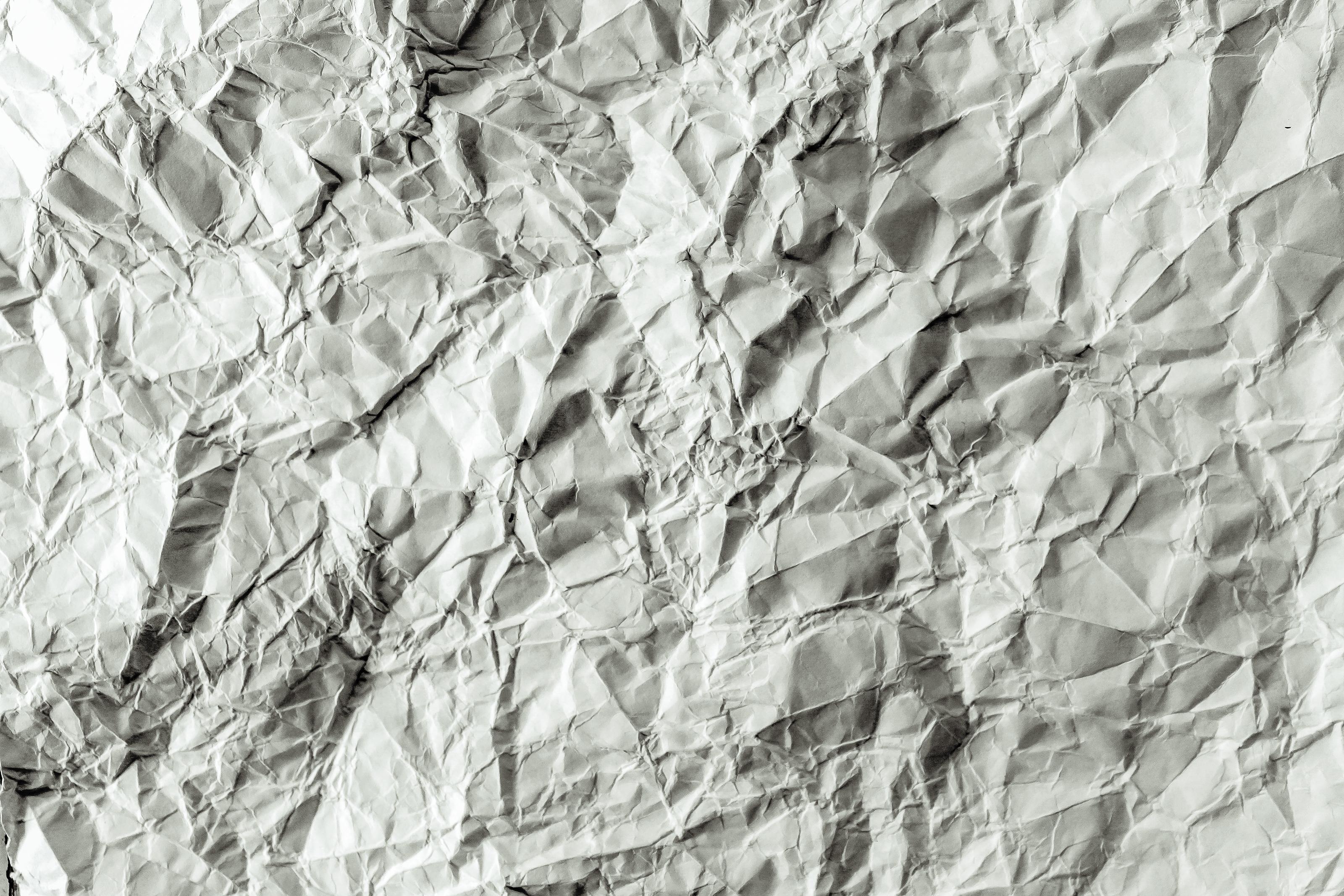 Banco de imagens : papel, Amassado, textura, página, em branco ...