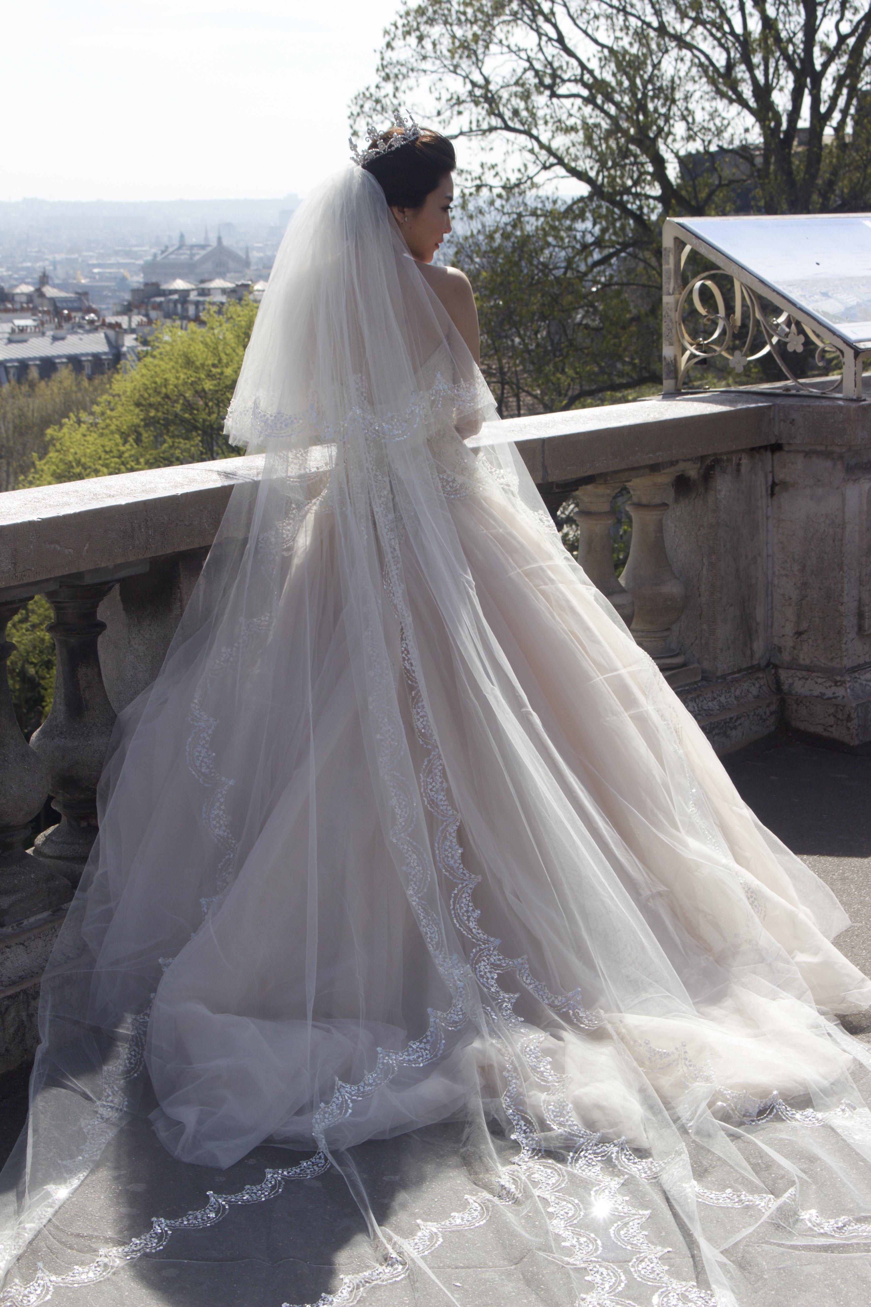 Gambar Paris Perancis Cinta Pernikahan Gaun Pengantin