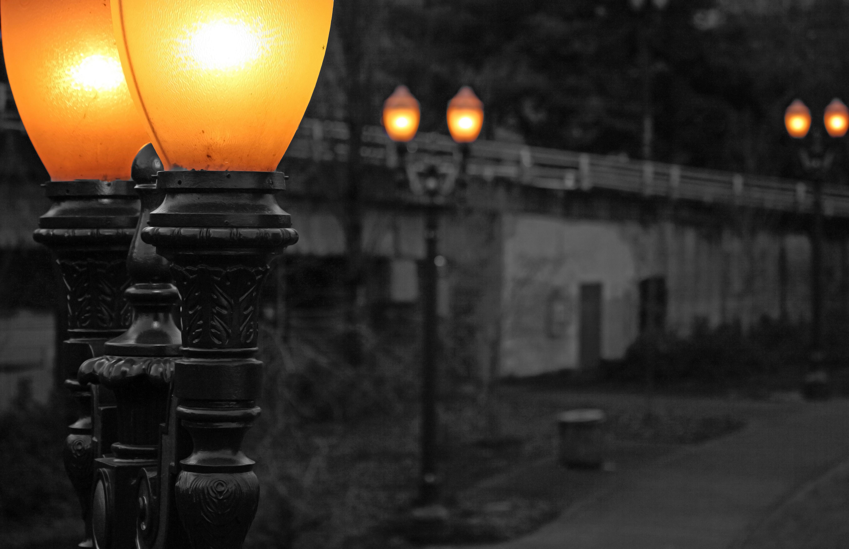Free Images Path White Bridge Night Downtown Dusk
