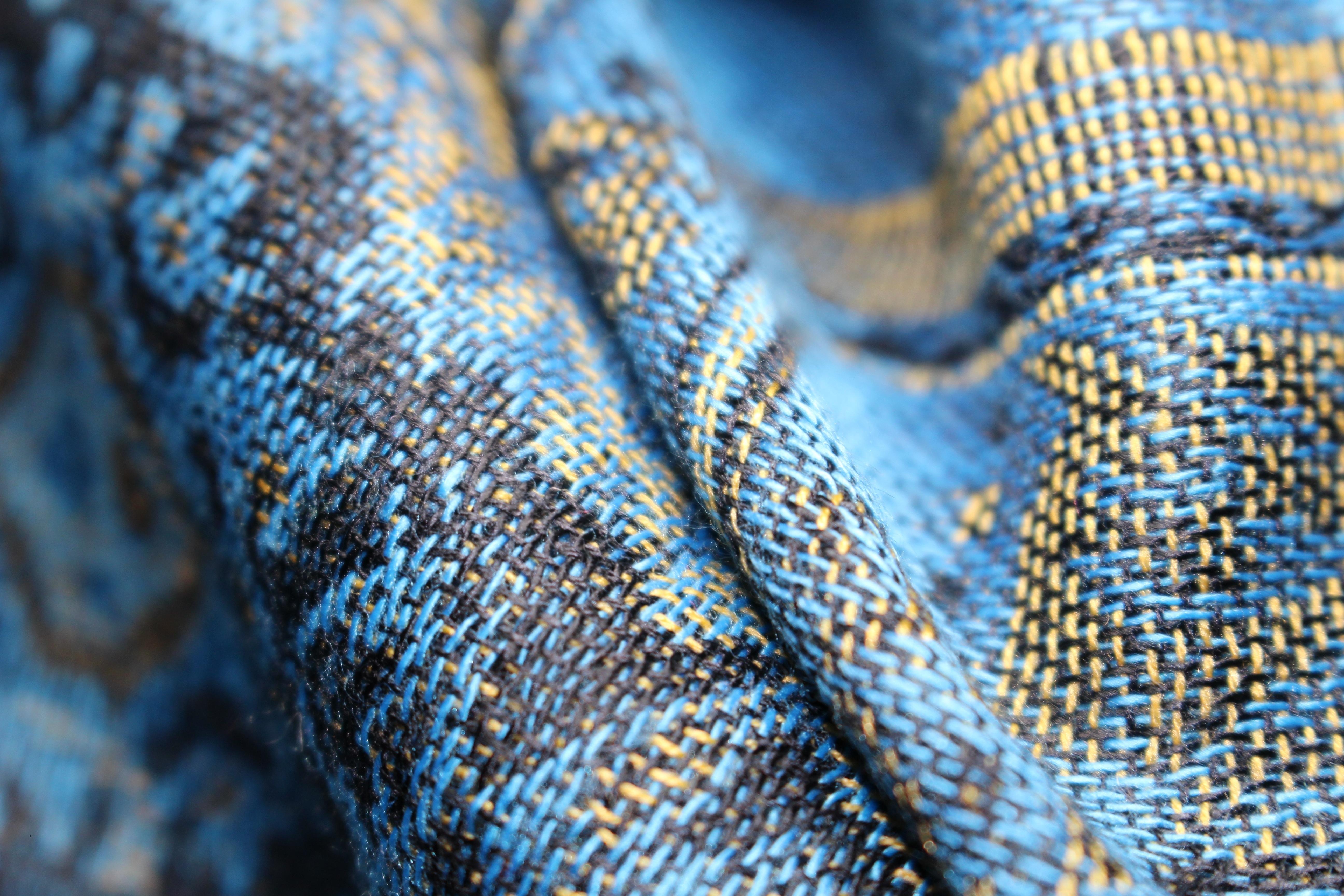Kostenlose foto : Muster, blau, Kunst, weben, Stoff, Faden ...