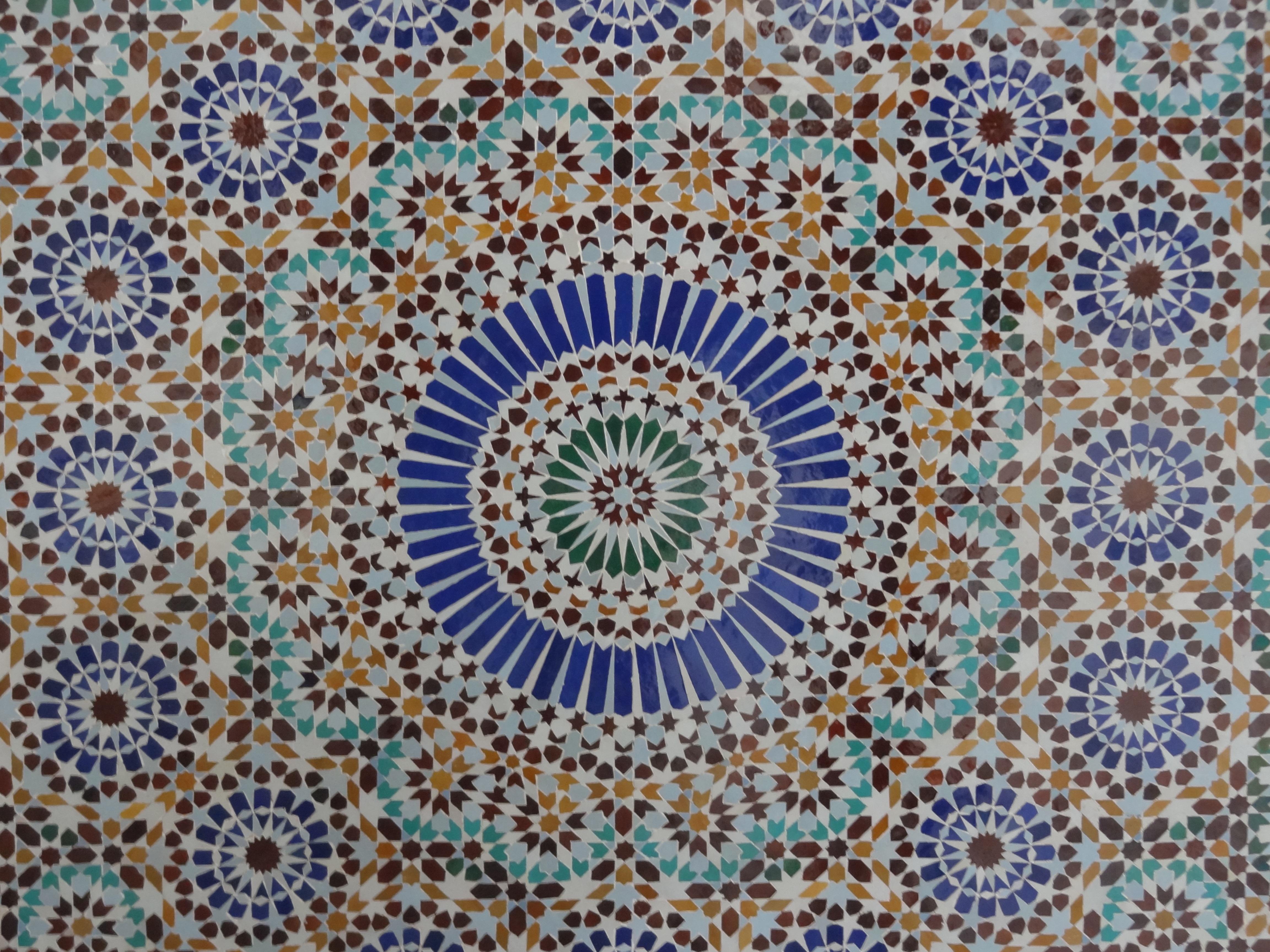 Immagini belle : modello geometria piastrella cerchio tessile