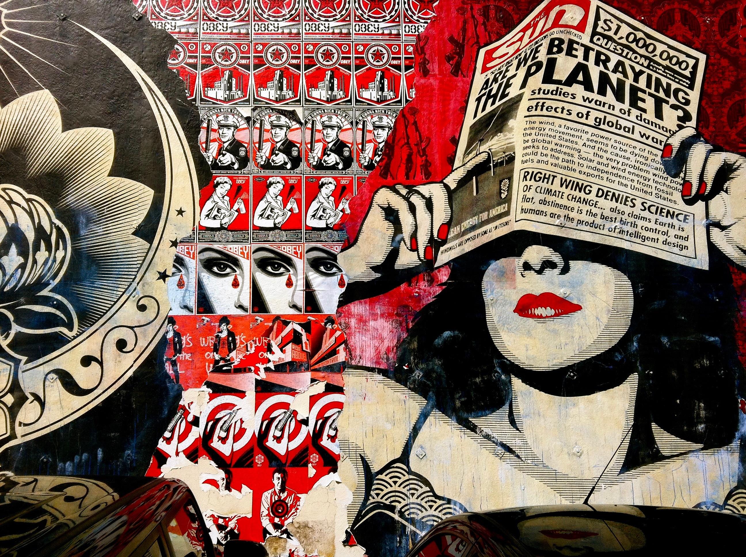 images gratuites : modèle, graffiti, art, illustration, collage