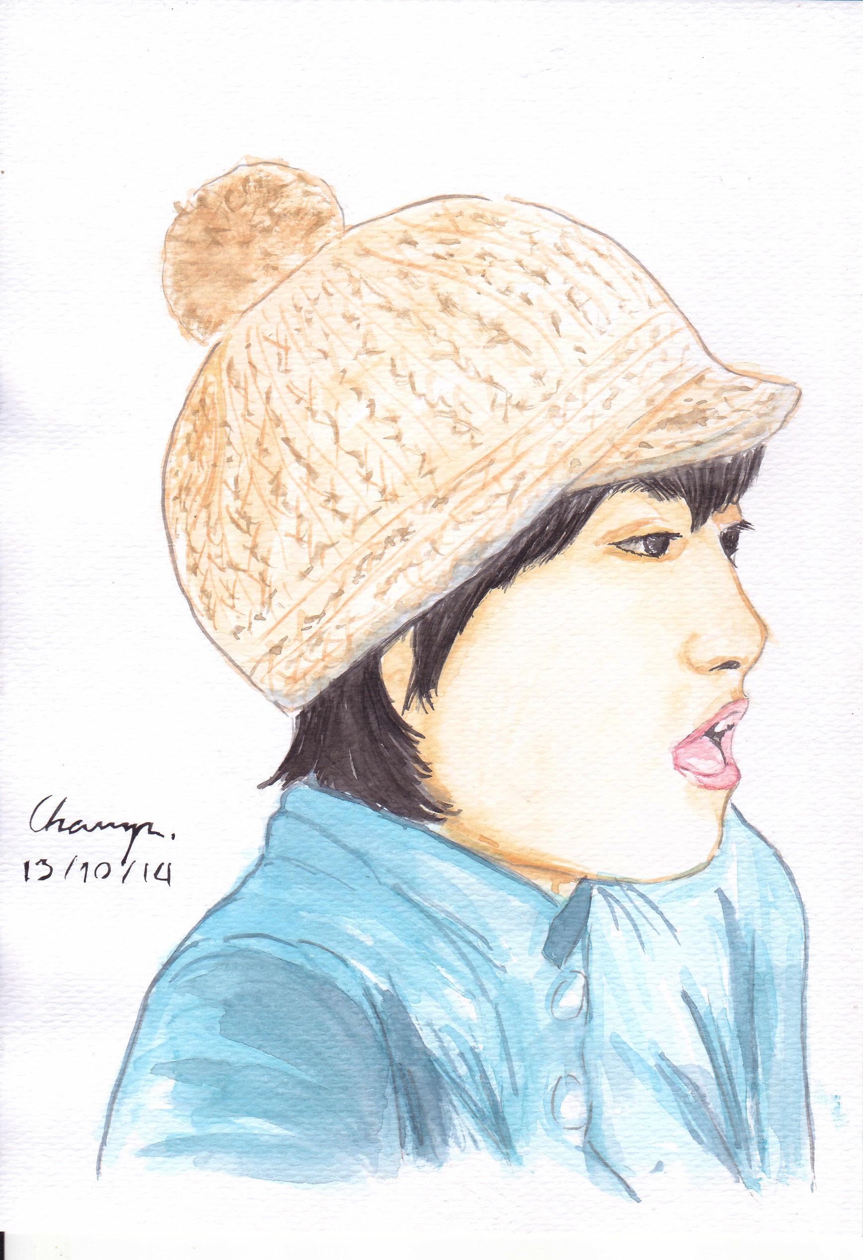 Gambar Pola Topi Pakaian Penutup Kepala Hairstyle Lukisan