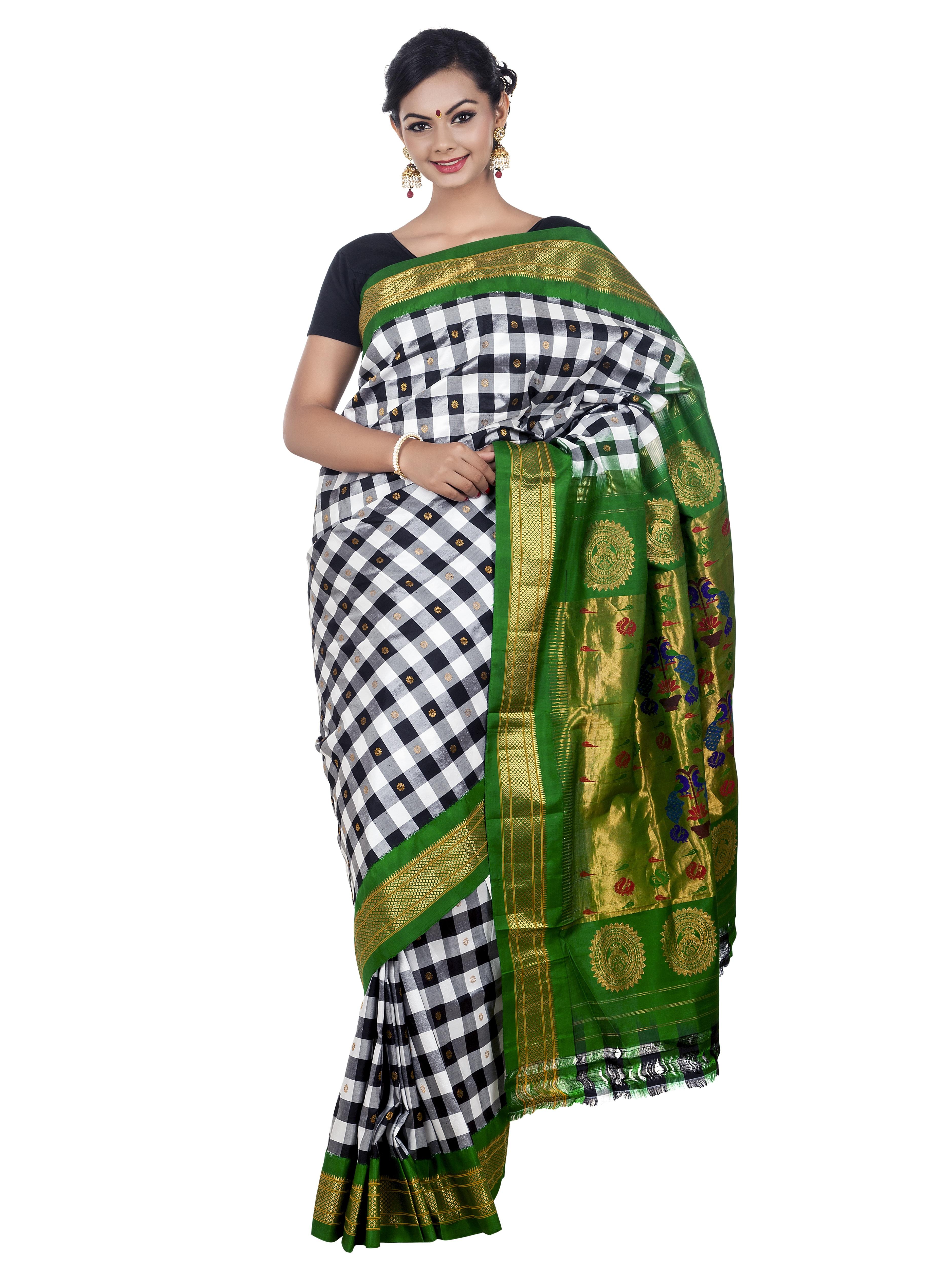 Robe indienne mariage vert