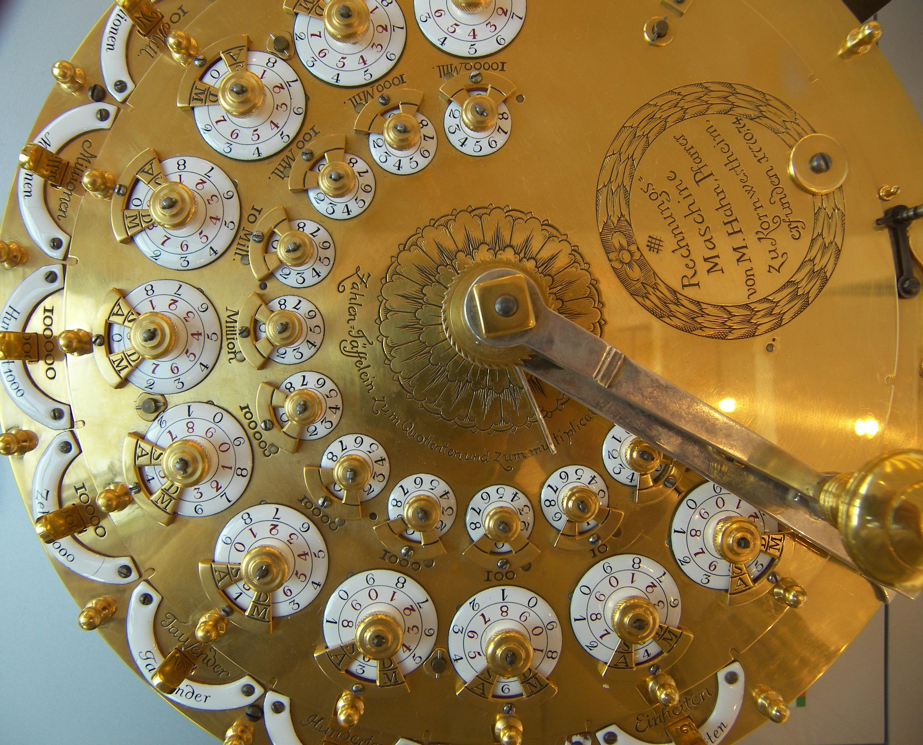 patroon museum machine verlichting cirkel kunst goud ontwerp duitsland snijwerk bonn rekenmachine oude geschiedenis