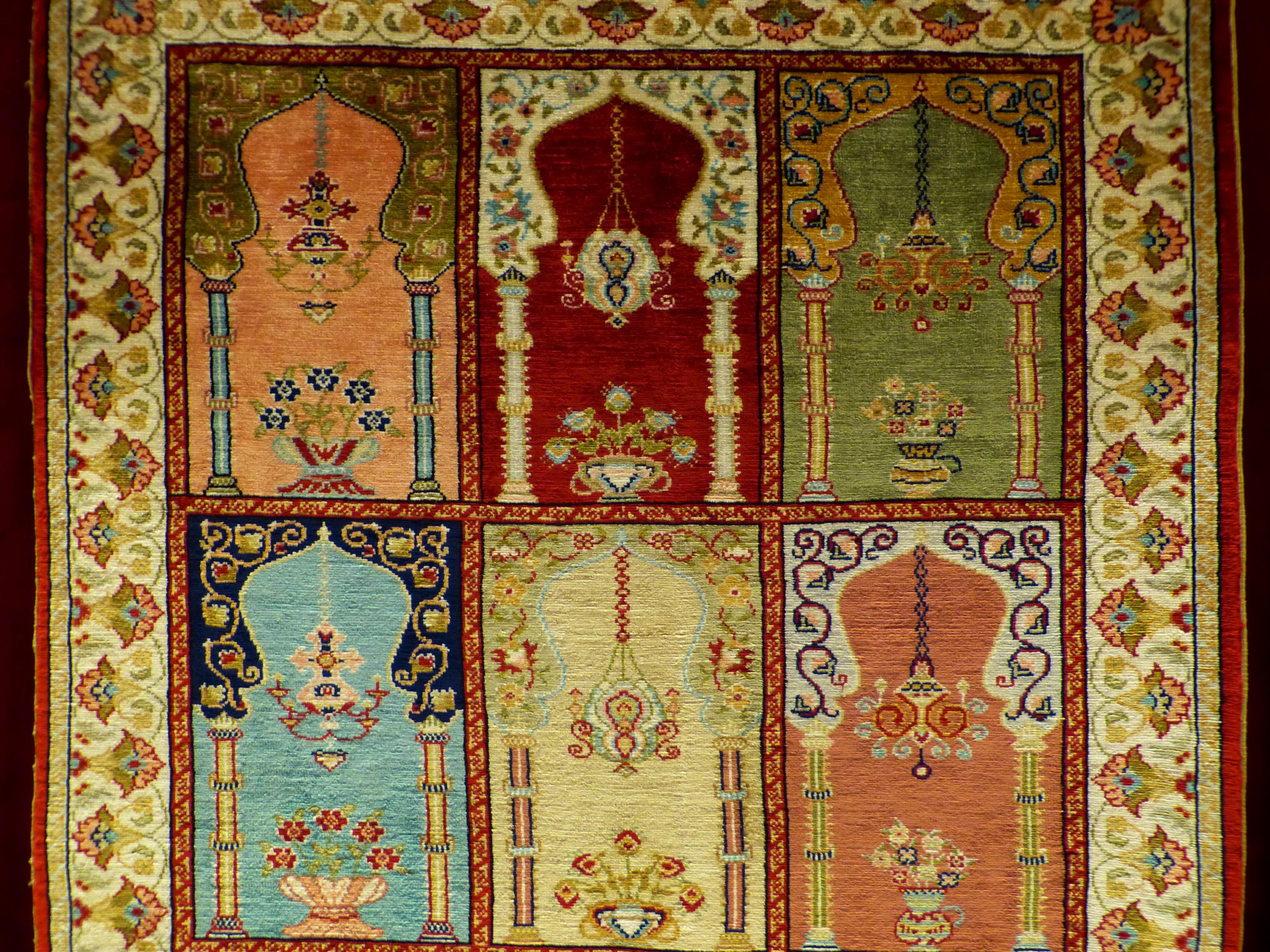 Gambar Pola Permadani Kerajinan Tekstil Seni Desain