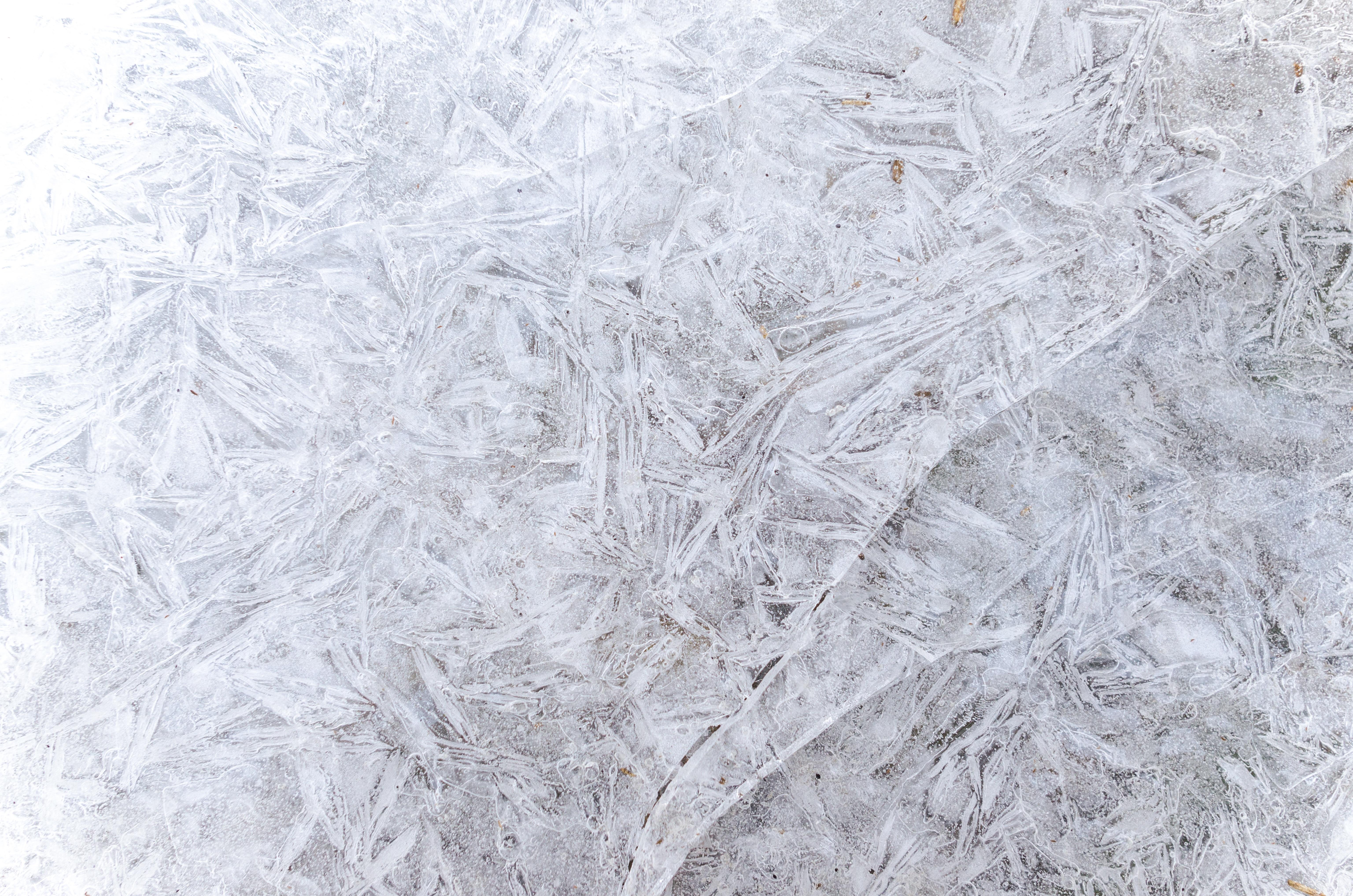 Fotos gratis : patrón, invierno, frío, hielo, azul, textura ...
