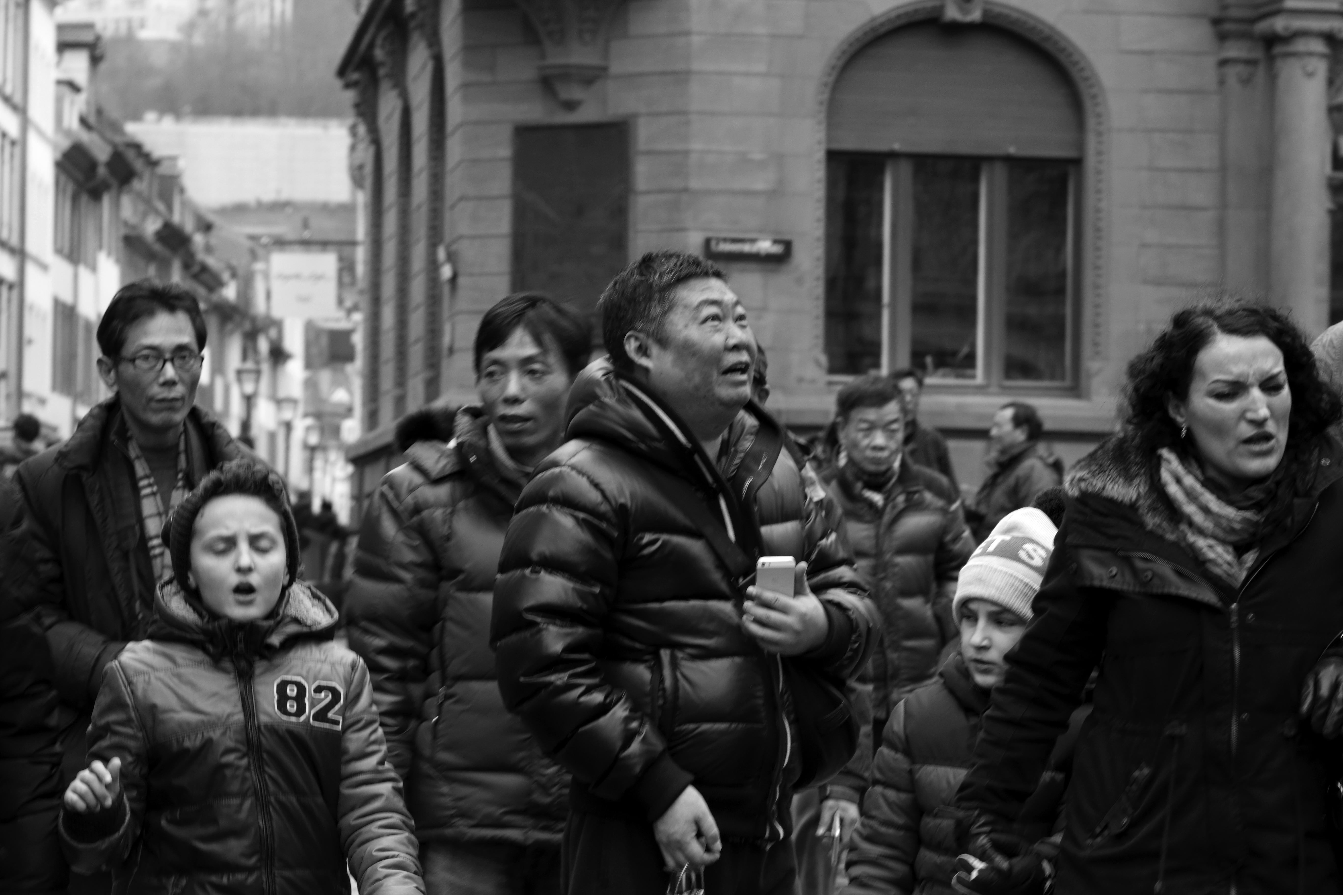 Fotografie Heidelberg kostenlose foto fußgänger schwarz und weiß menschen menge