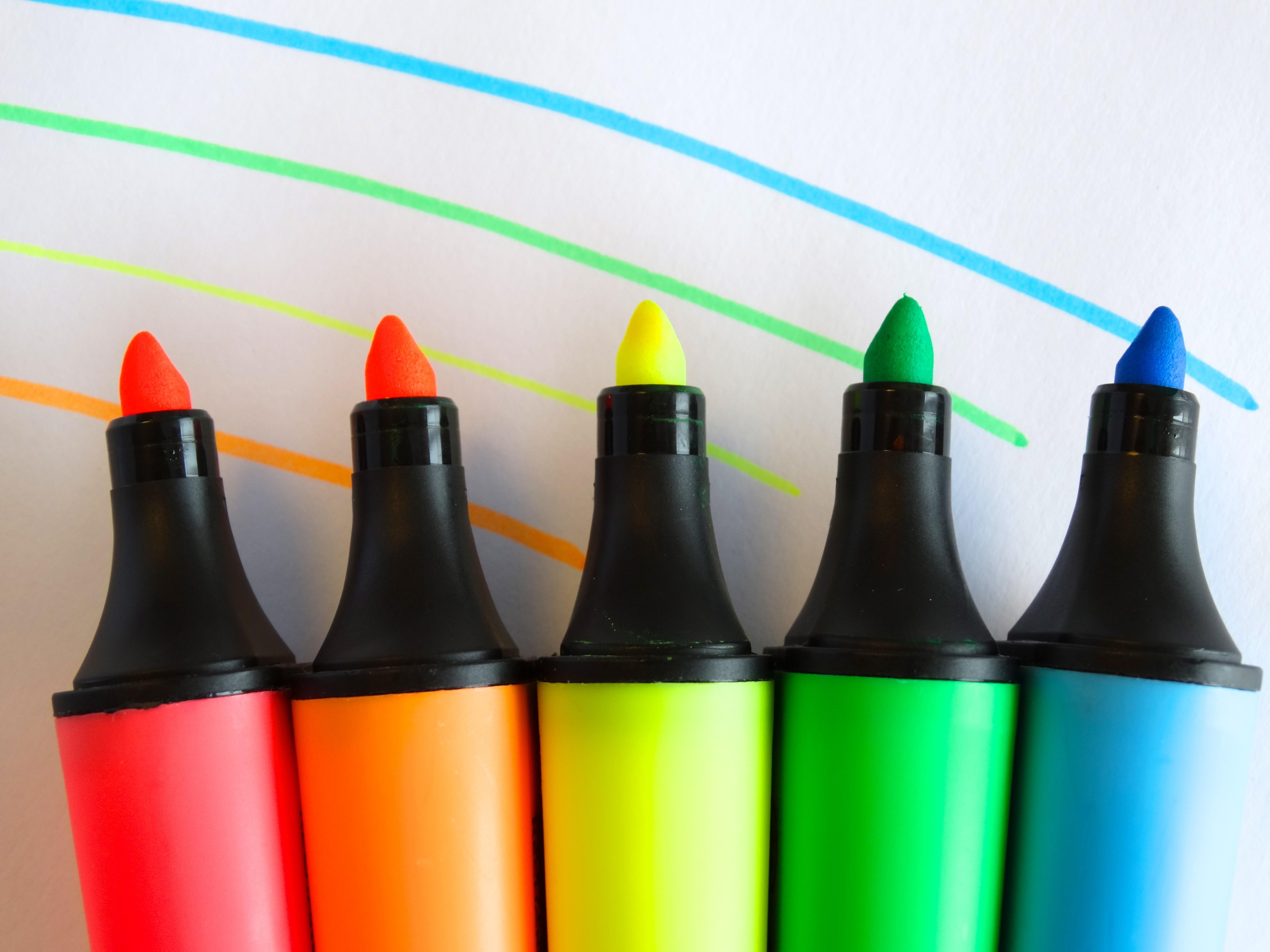 Images gratuites stylo couleur color bouteille en - Image arc en ciel gratuite ...