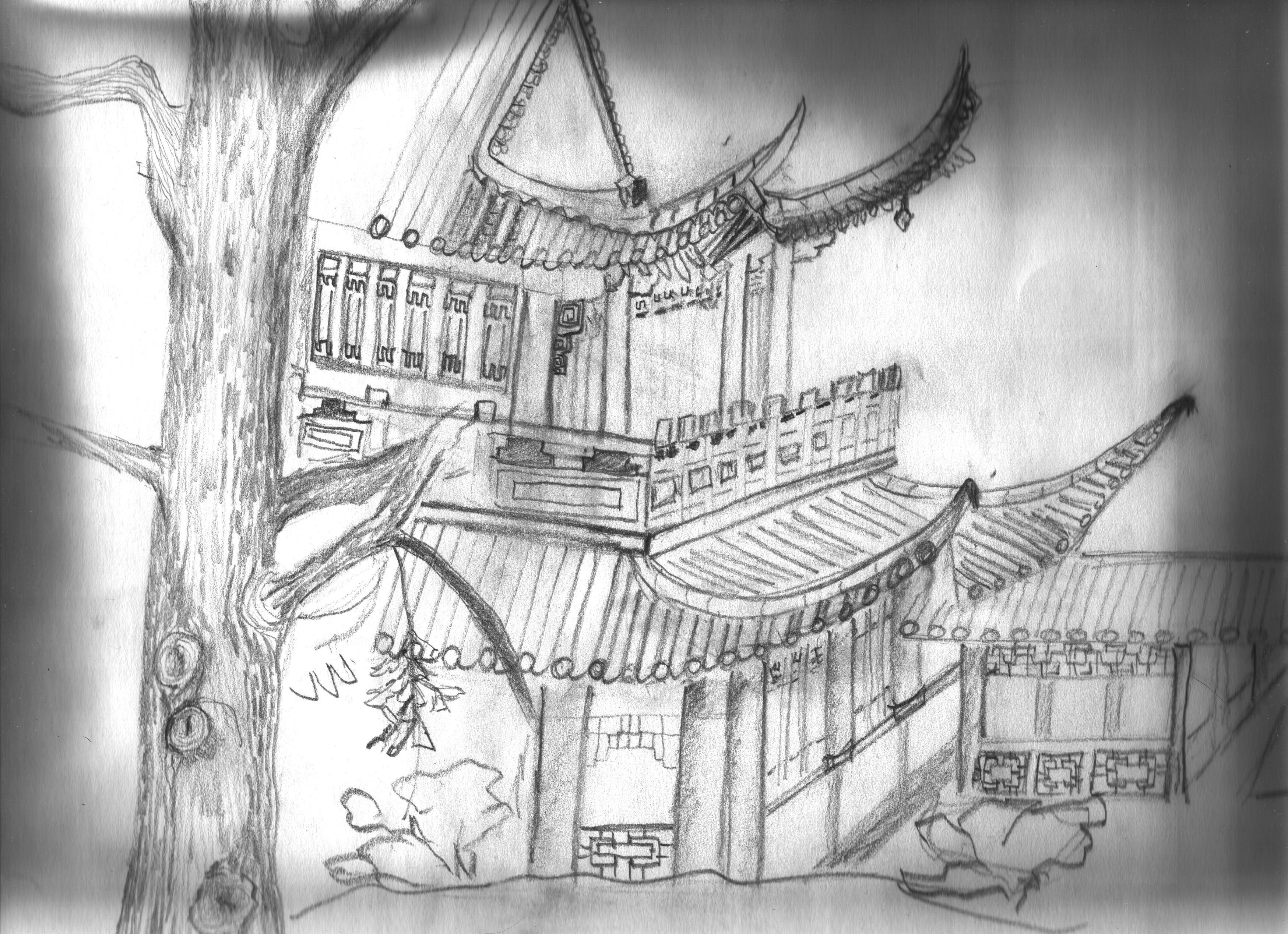 Gambar Pensil Hitam Dan Putih Satu Warna Sketsa Gambar
