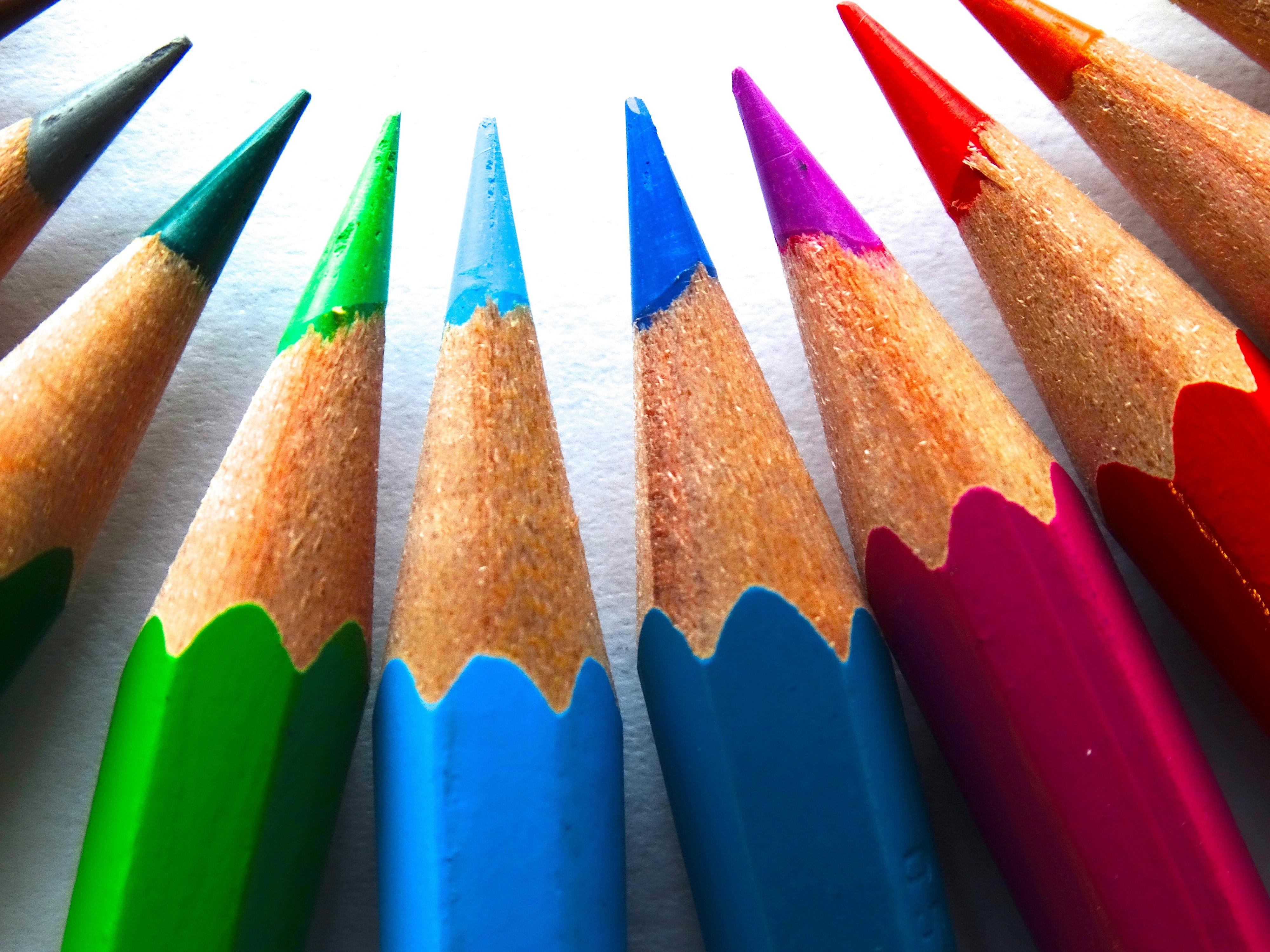 Fotos Gratis Macro Pintar Vistoso Lápiz De Color Plumas