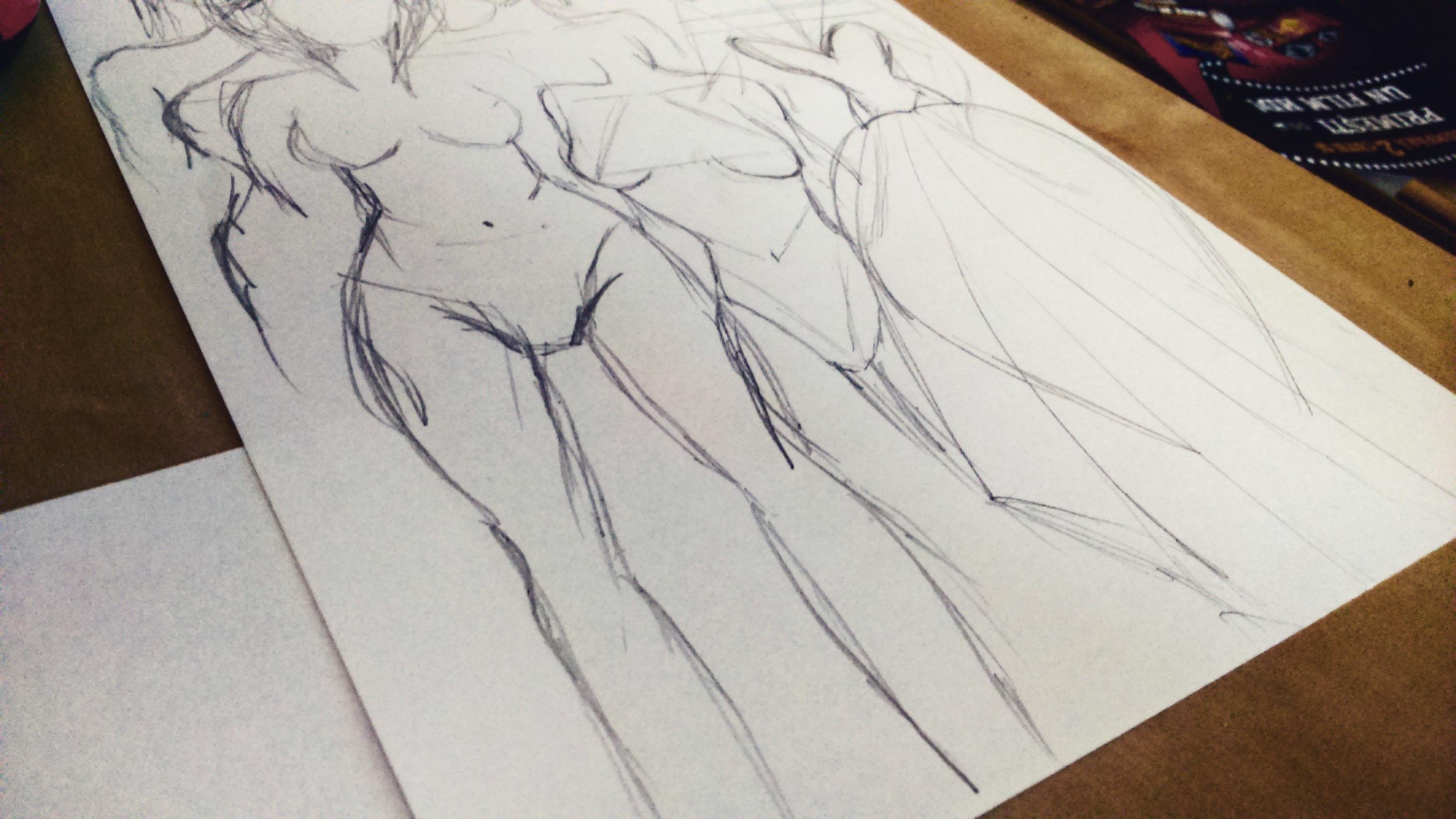 Pencil creative wing people girl woman cute artwork create sketch drawing creativity happy women body draw