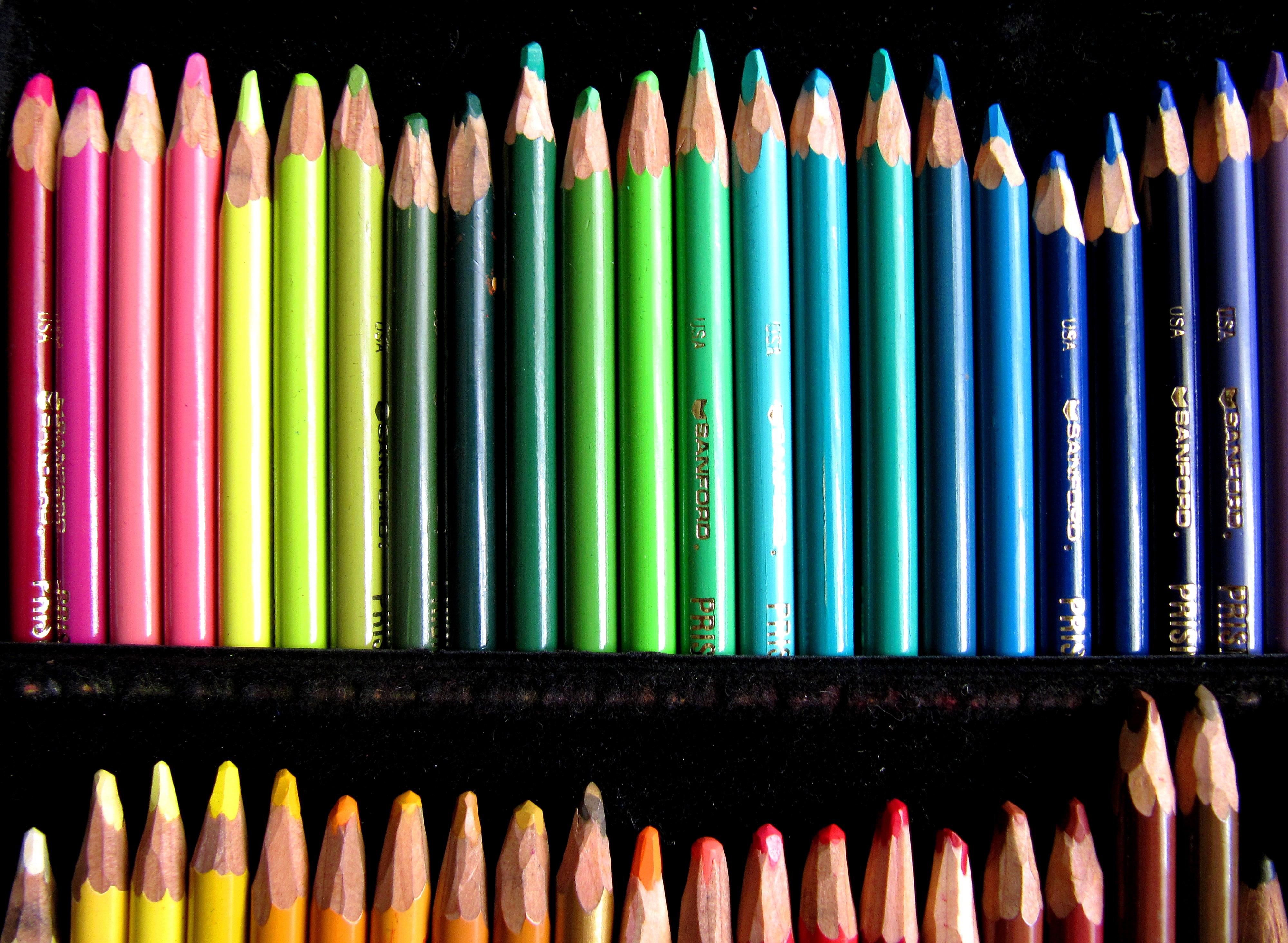 Free Images : pencil, line, color, art, colors, pencils, gun ...