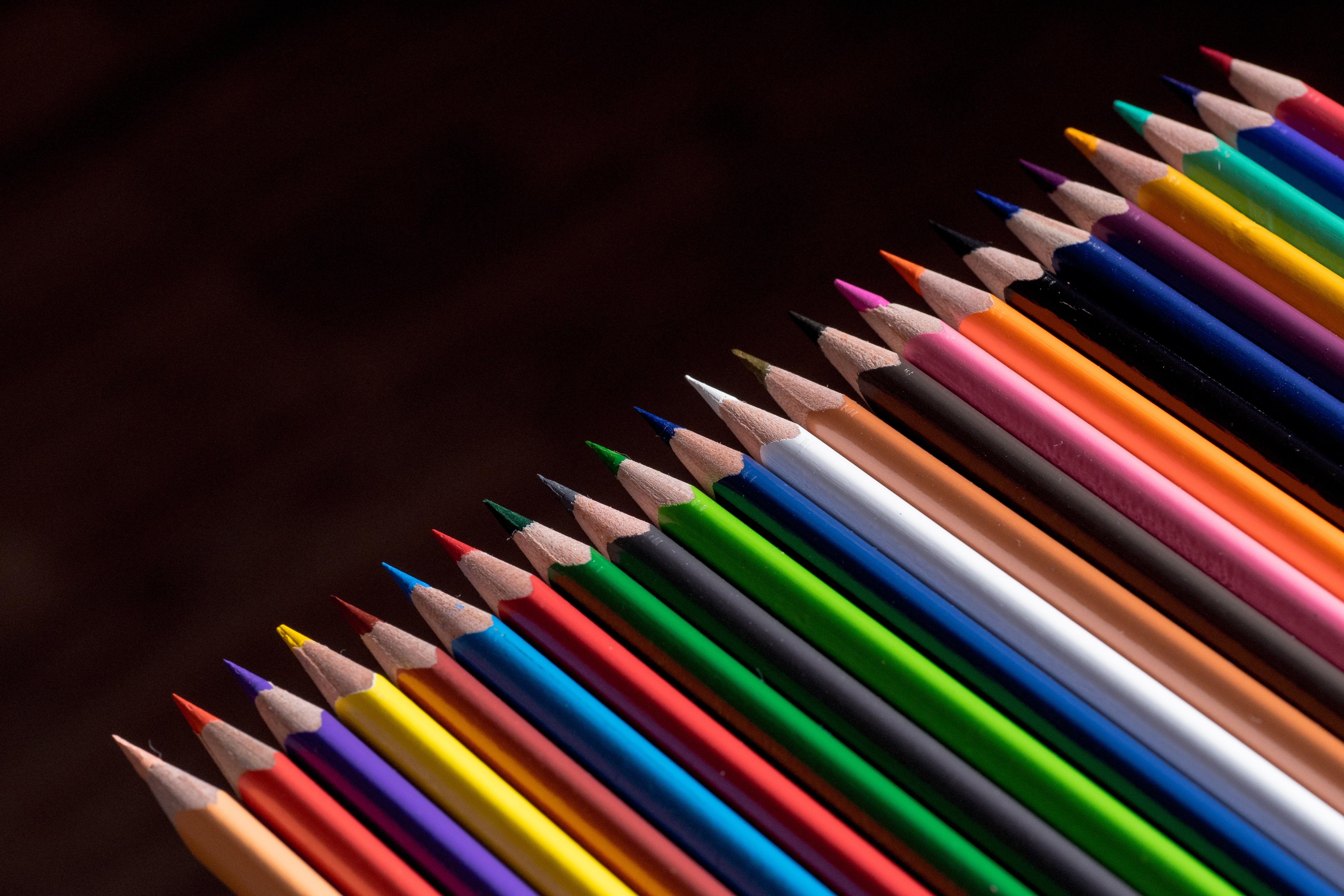 Gratis afbeeldingen potlood lijn kleur macro kantoor verf