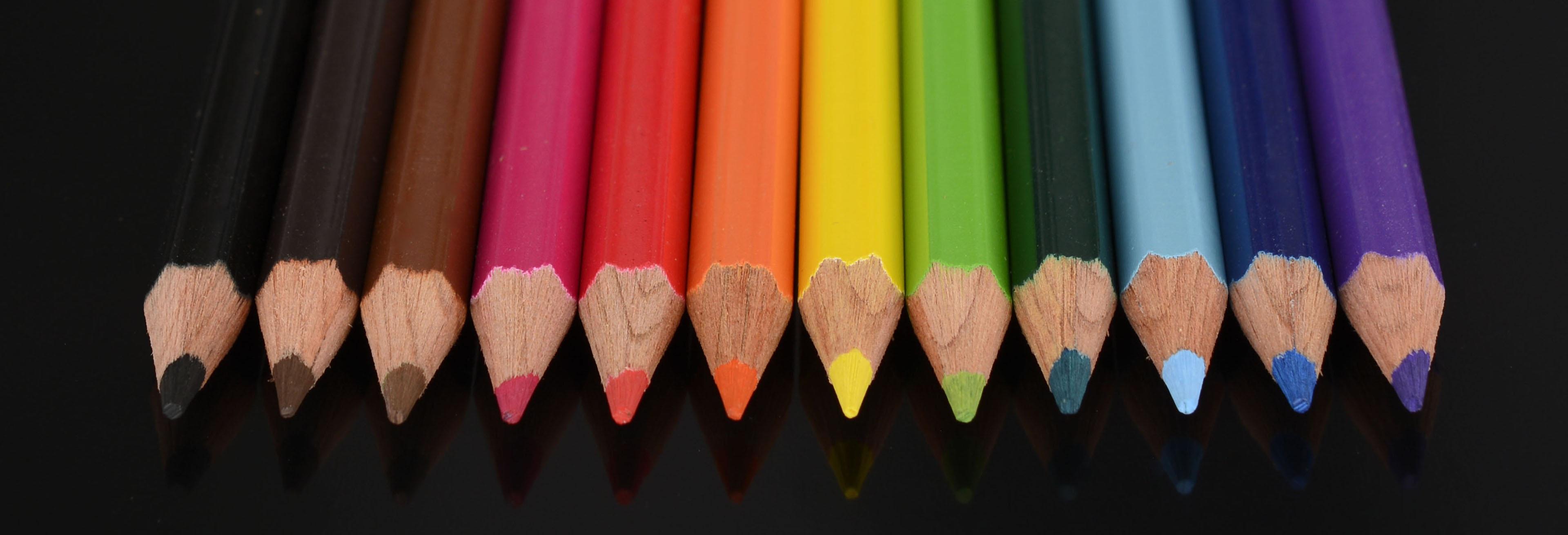 free images pencil wood color banner paint colorful pens