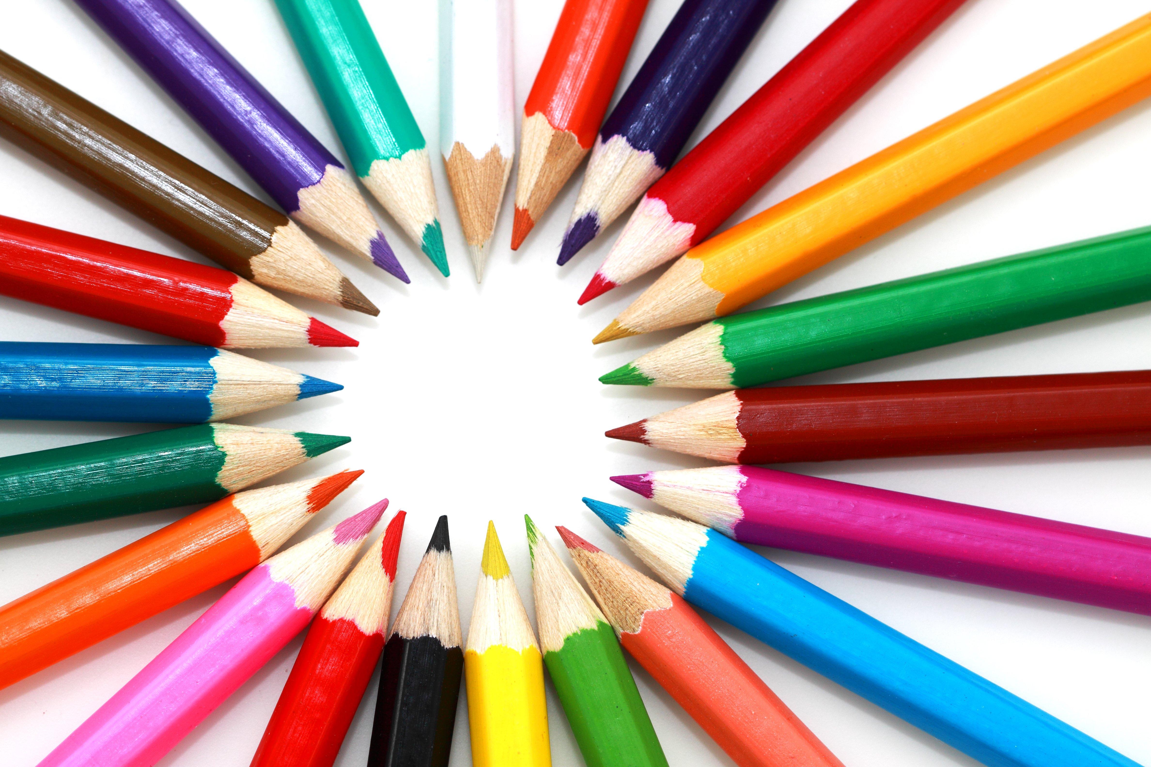 Яркие картинки с карандашами