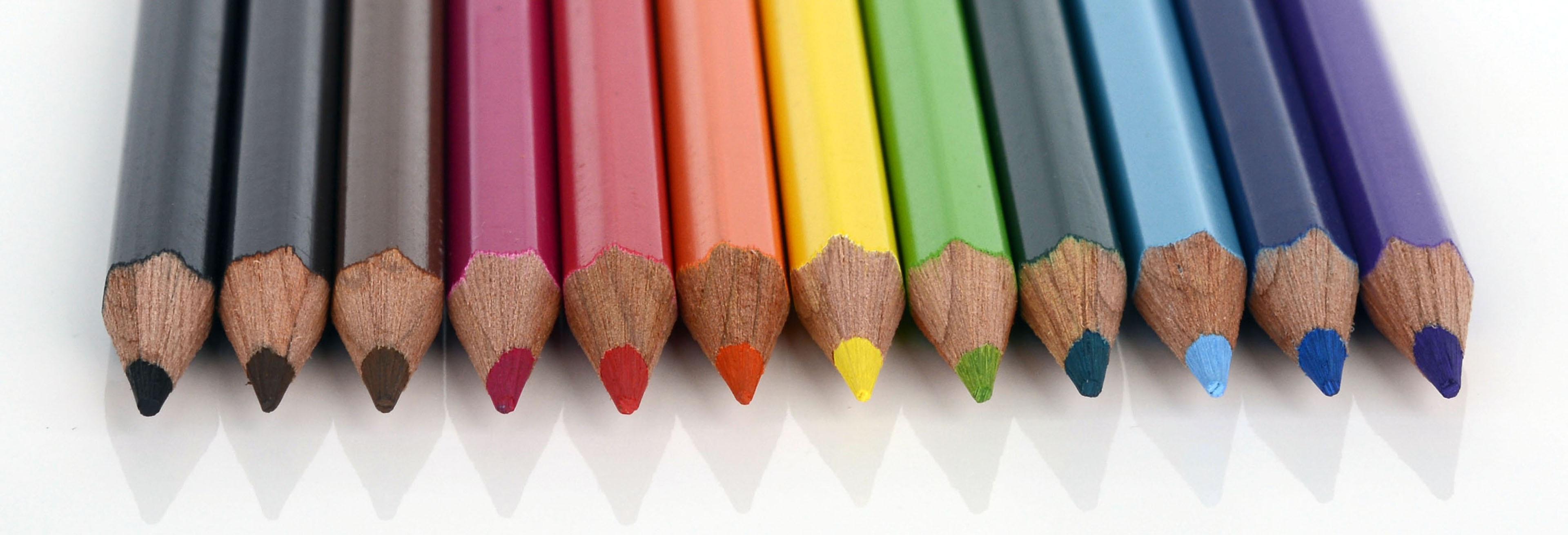 Hình ảnh Bút Chì Gỗ Cây Bút Biểu Ngữ Sơn đầy Màu Sắc