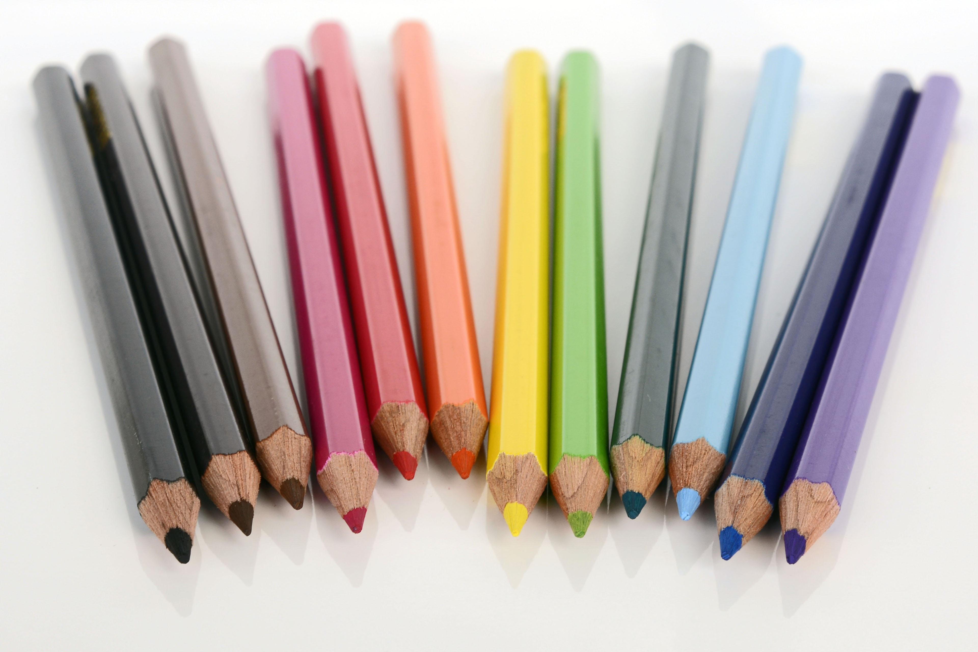 Hình ảnh Bút Chì Gỗ Cây Bút Sơn đầy Màu Sắc Bút Chì