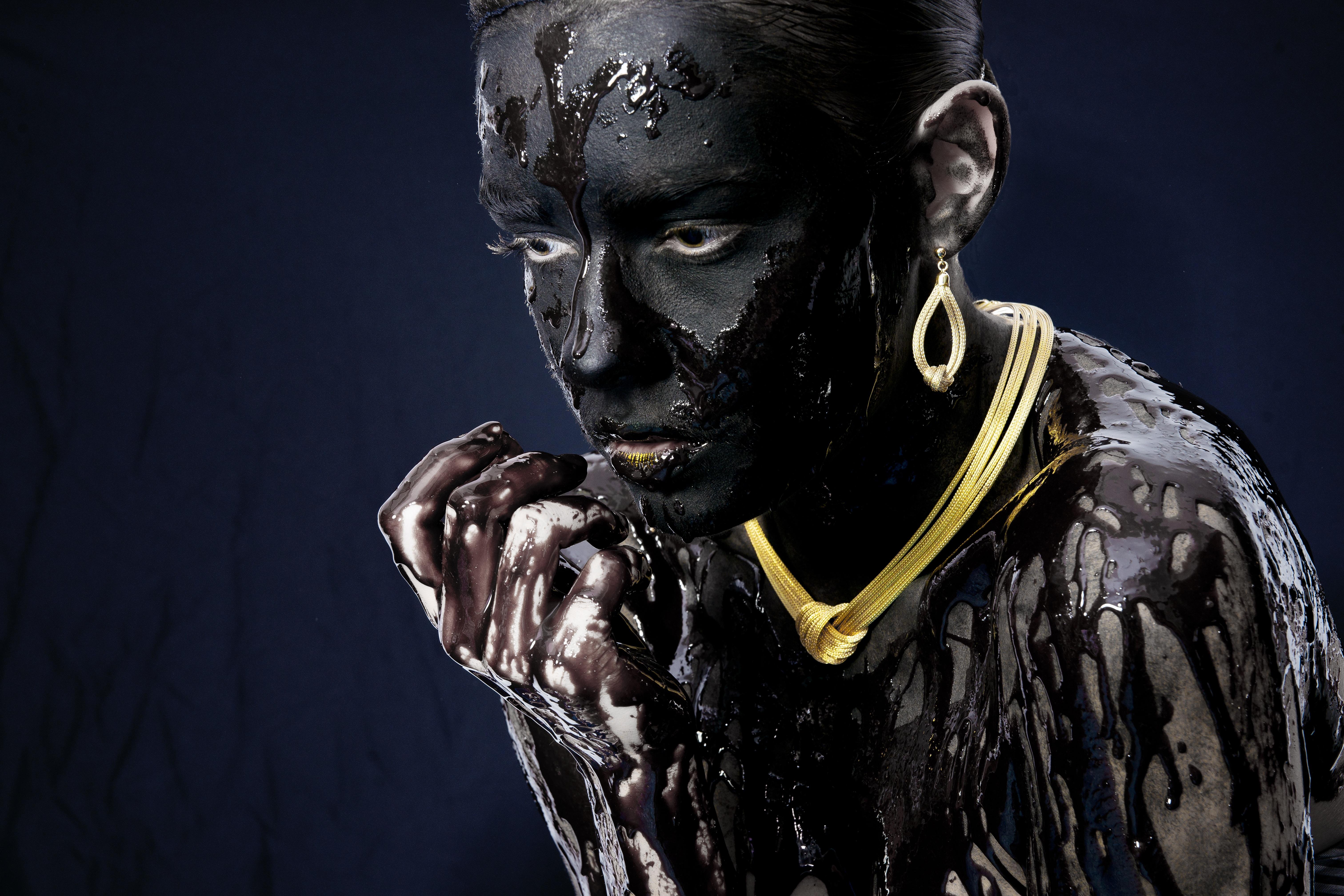Fotoğraf Insanlar Karanlık Heykel Portre Model Stüdyo Insan