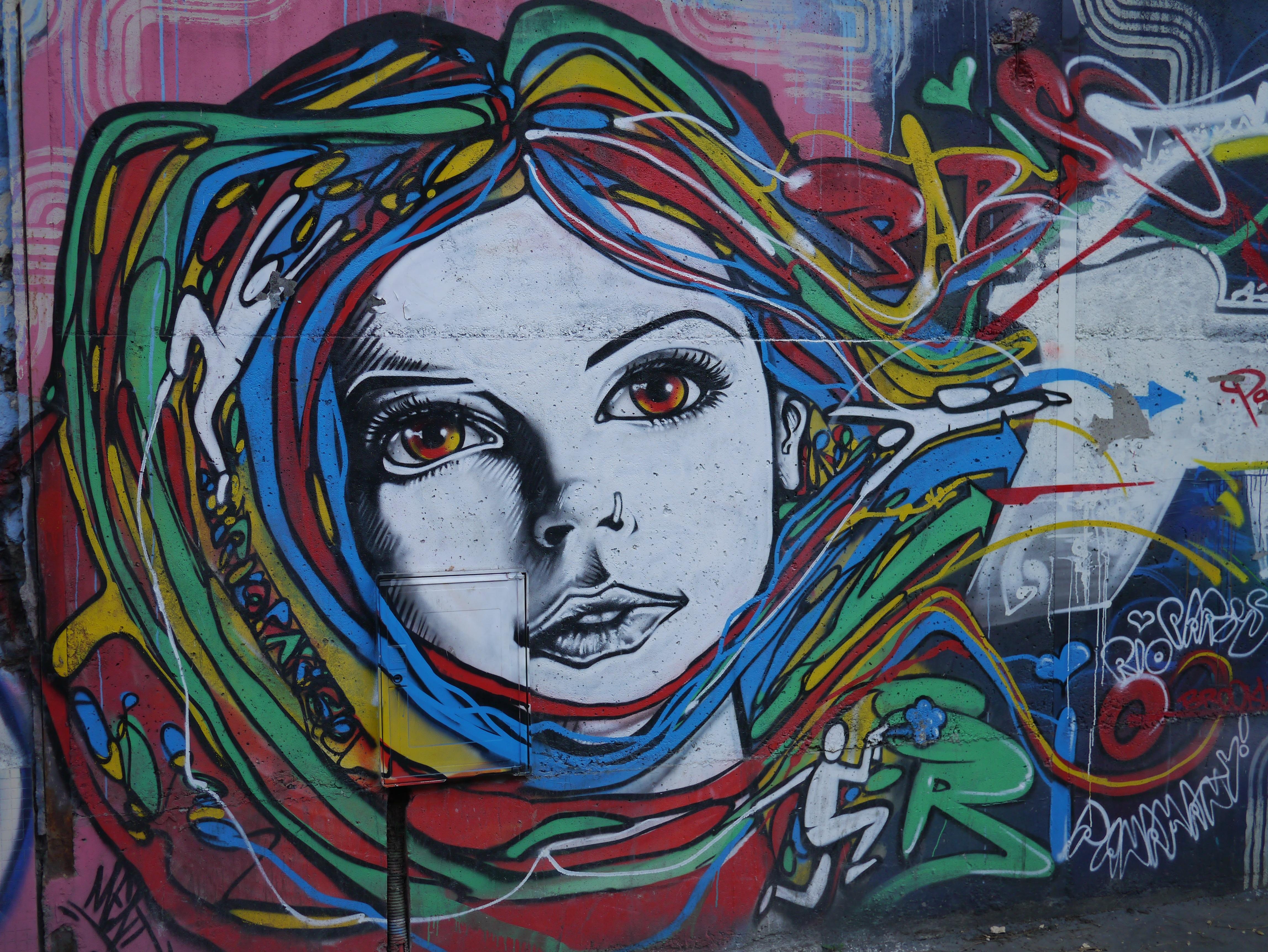 Citaten Kunst Yang Bagus : Gambar orang gadis coretan seni jalanan