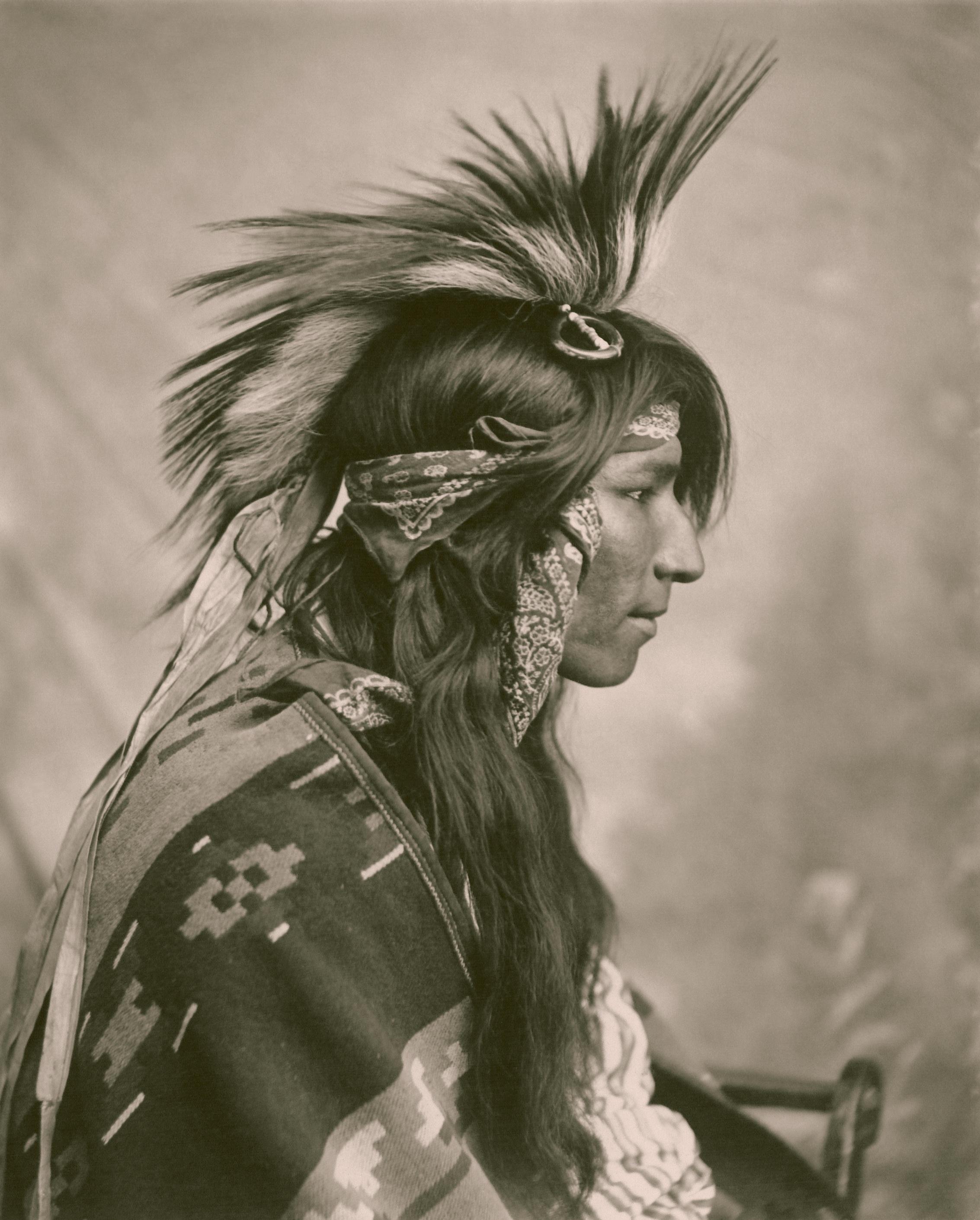 Gambar Orang Hitam Dan Putih Vintage Satu Warna Bulu