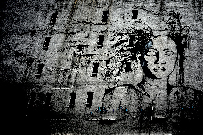 Фотографии граффити черно белые