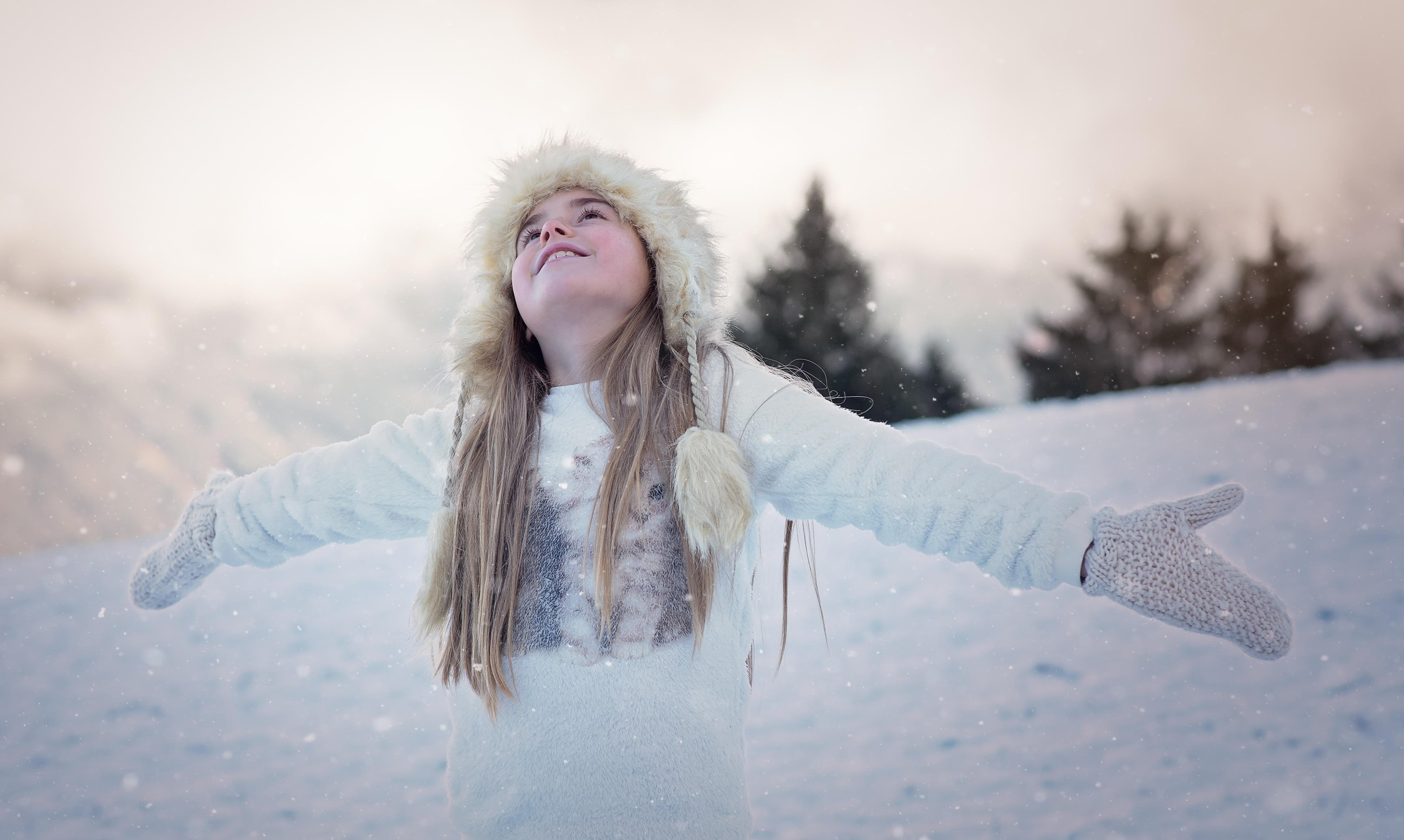 Gambar Orang Musim Dingin Gadis Wanita Potret Musim Semi