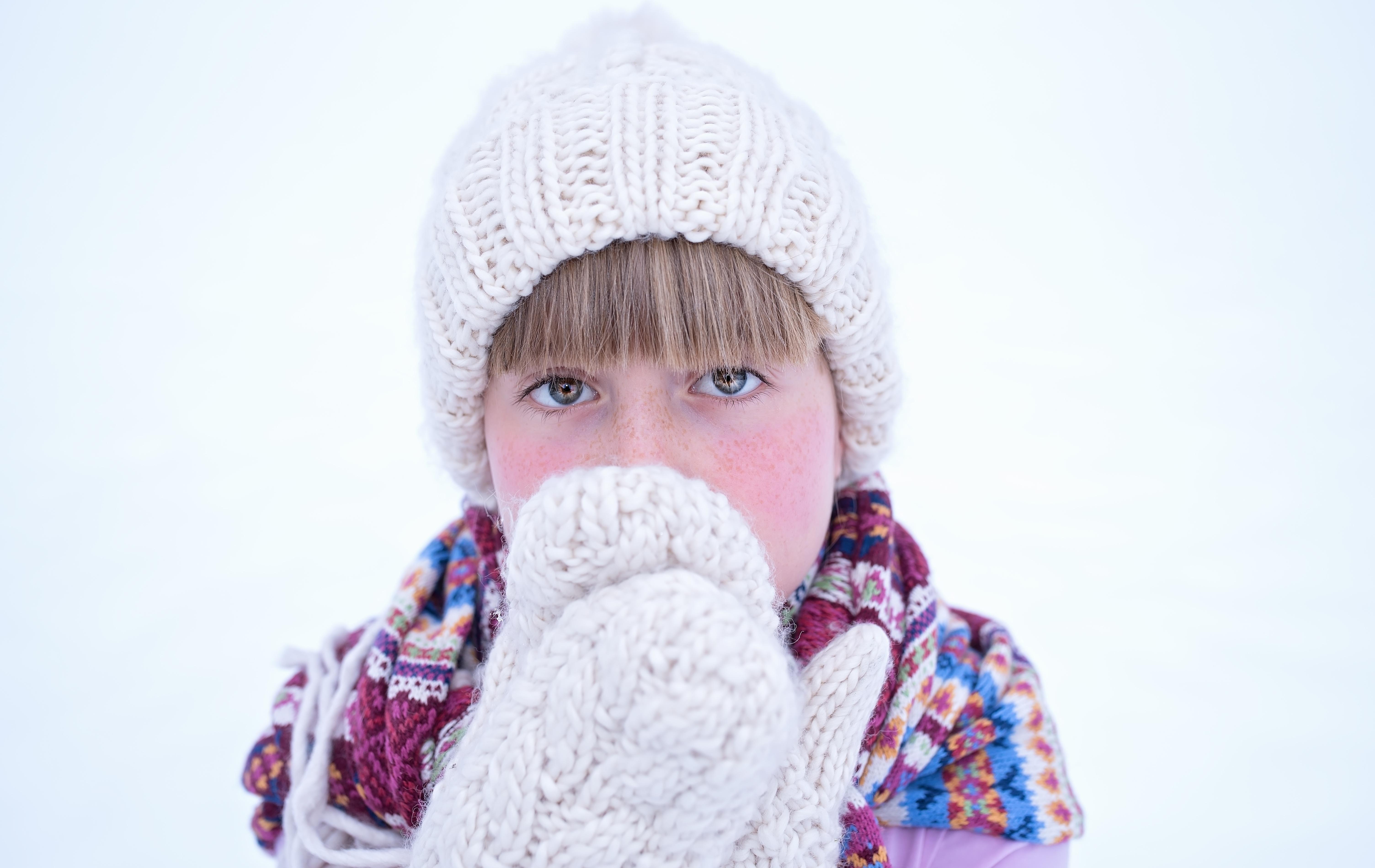person snow winter girl hair isolated portrait child human hat clothing  close headgear hairstyle beard beanie dd66814d9a8e