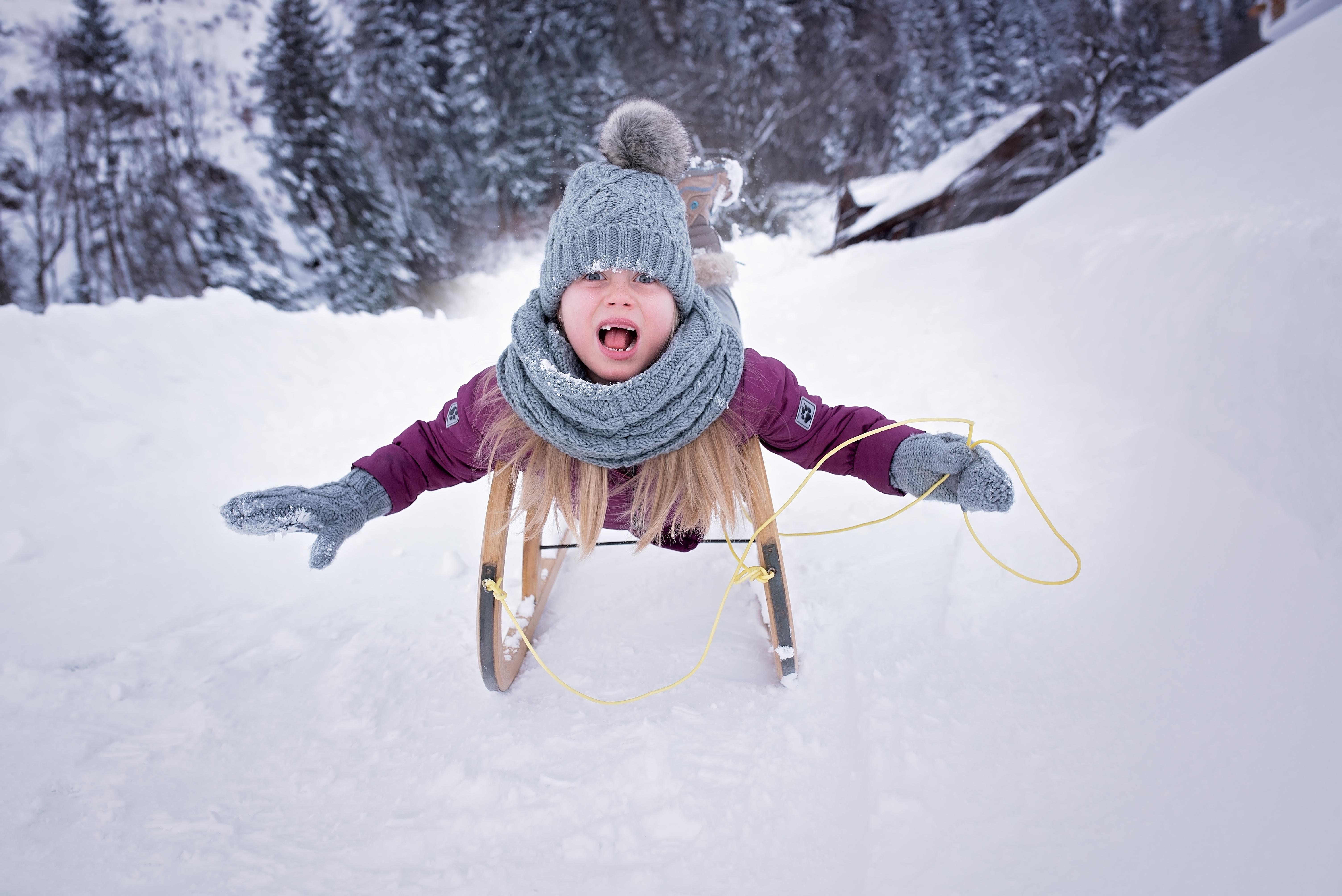 Gambar Orang Salju Musim Dingin Gadis Cuaca Anak Manusia