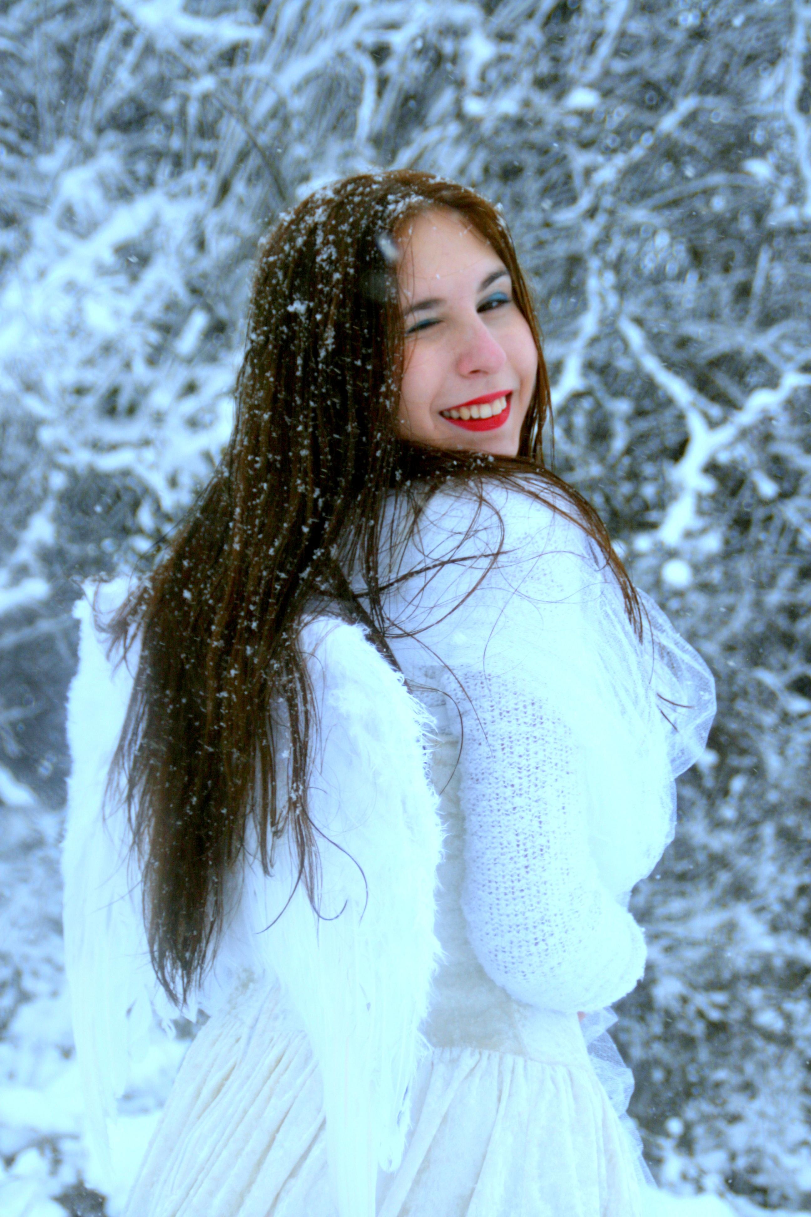 Fotos gratis : persona, nieve, invierno, niña, mujer, cabello ...