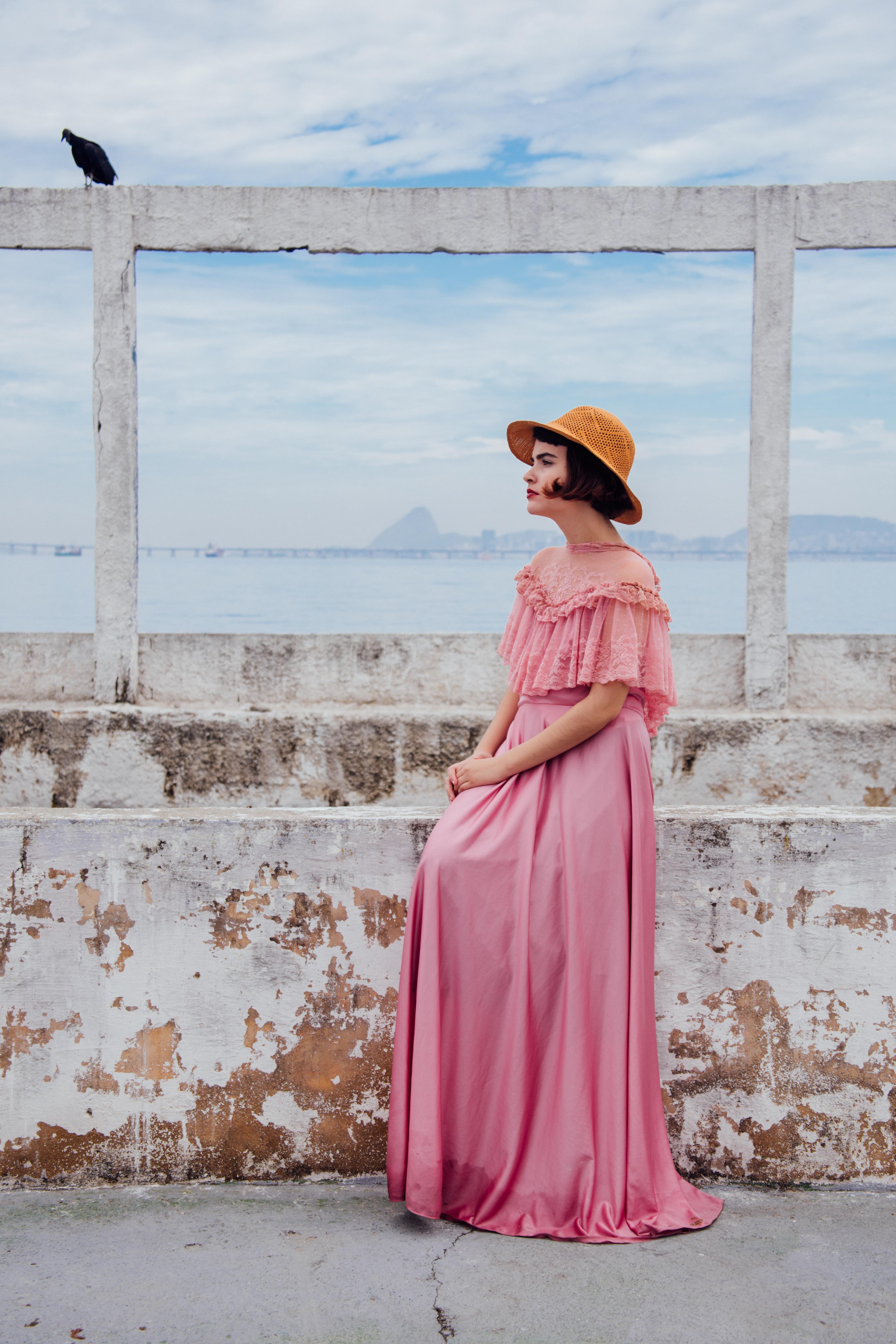 Fotos gratis : persona, mujer, vendimia, modelo, primavera, rojo ...